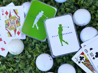 Men's Green or White Golf Poker Cards