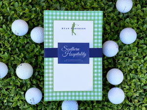 Men's Green Golf Notepad