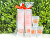 Frosted Monogrammed Cups, 9oz-24oz