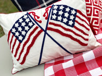 Double US Flag Pillow