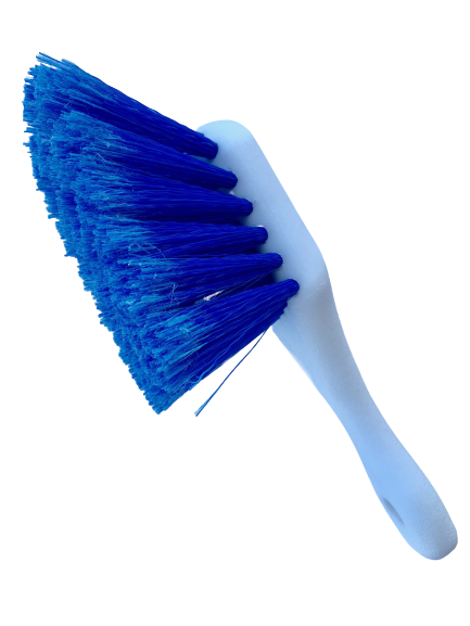 Short Handle Blue Bristle Brush