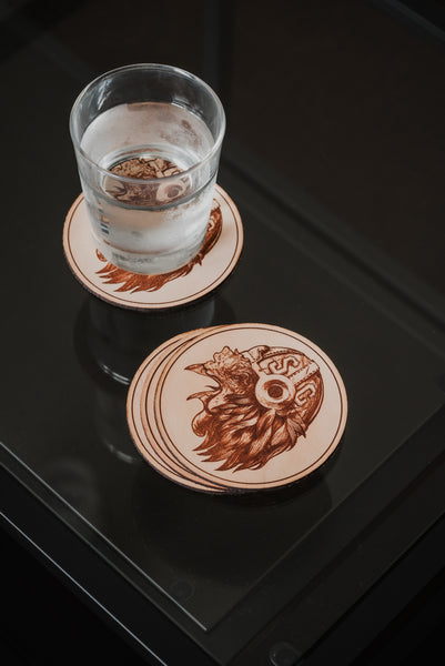 Est. 1801 Leather Coasters