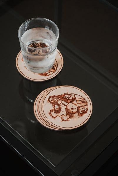 Est. 1889 Leather Coasters