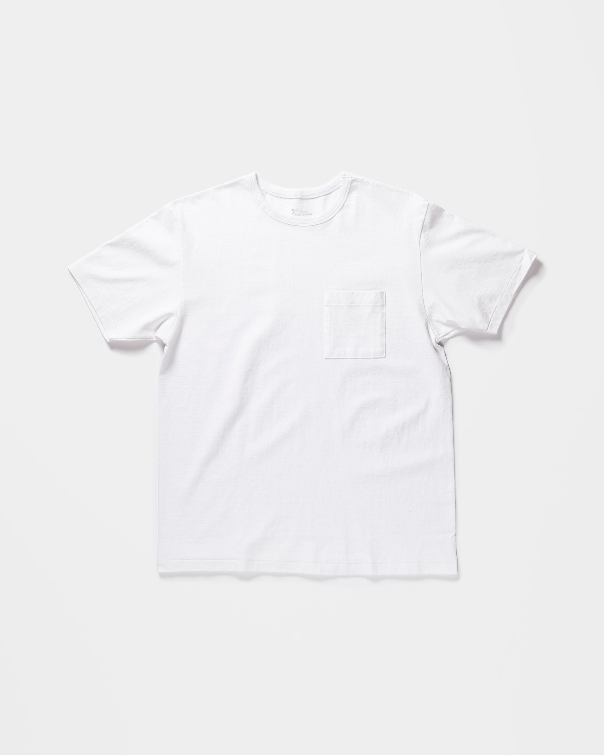 Heavy-weight Pocket T-shirts White