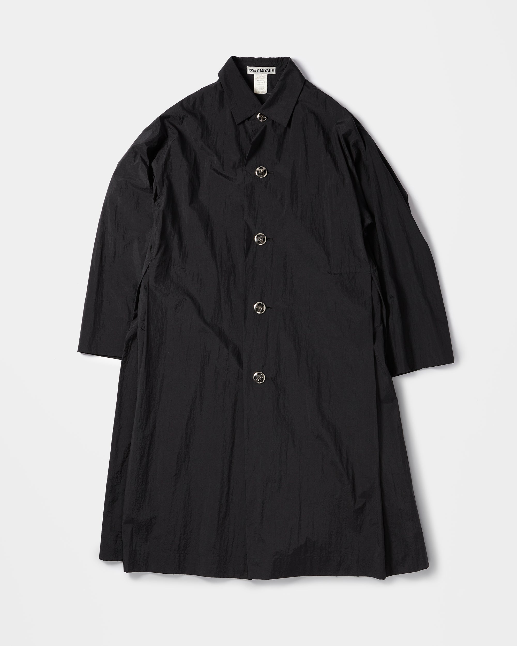 Black Nylon Long Coat