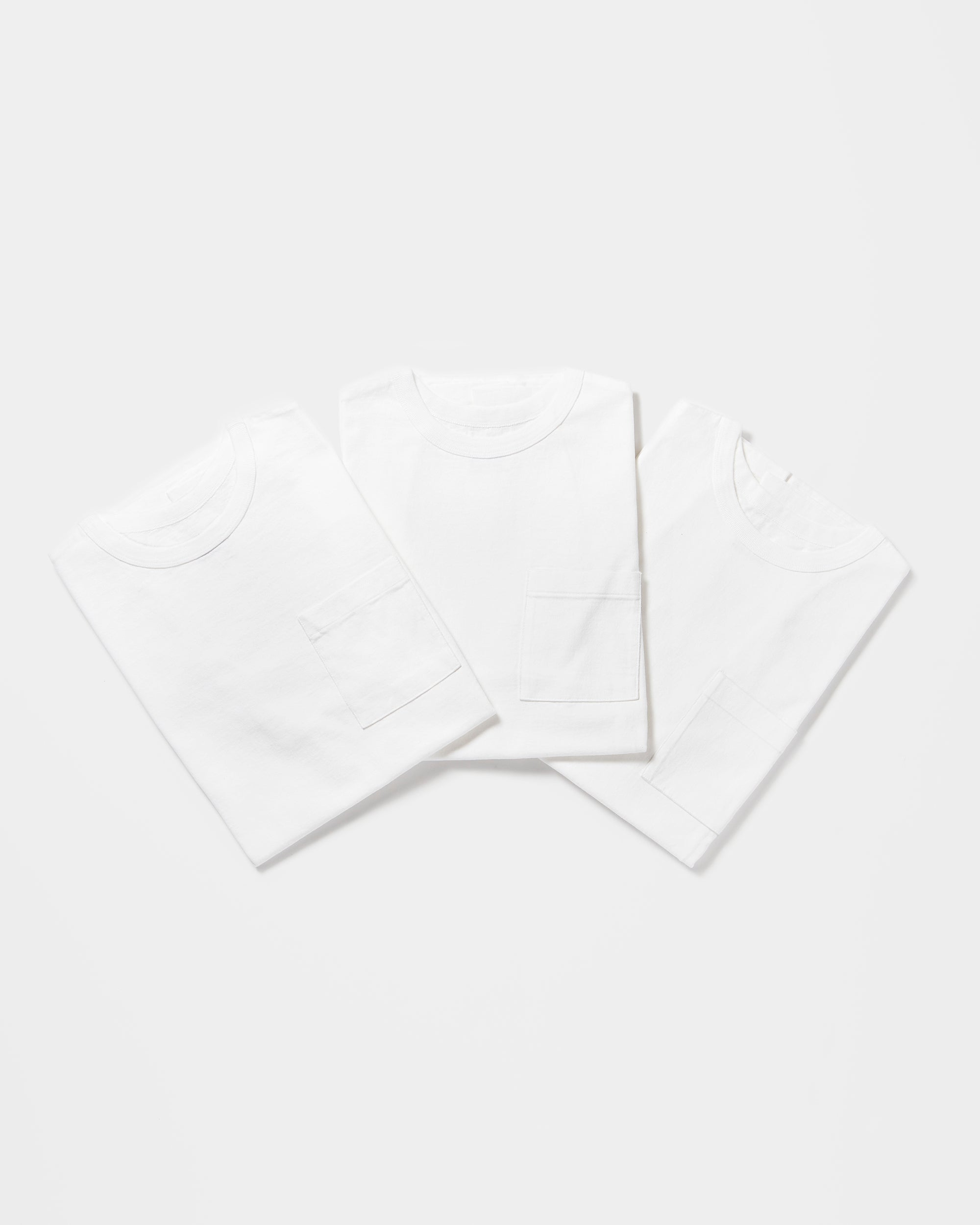 3-Pack Heavyweight Pocket T-shirts White (You Save 10%)