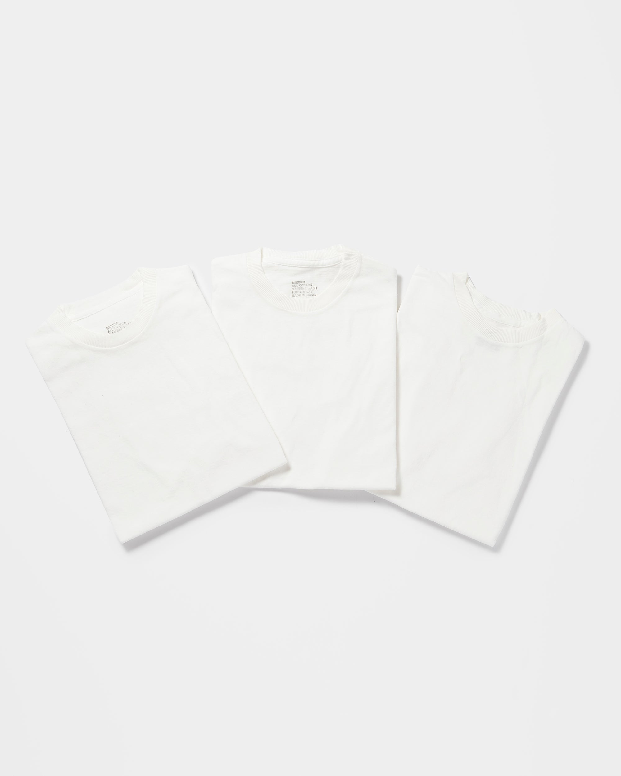 3-Pack Original Classic T-shirts White(You Save 10%)