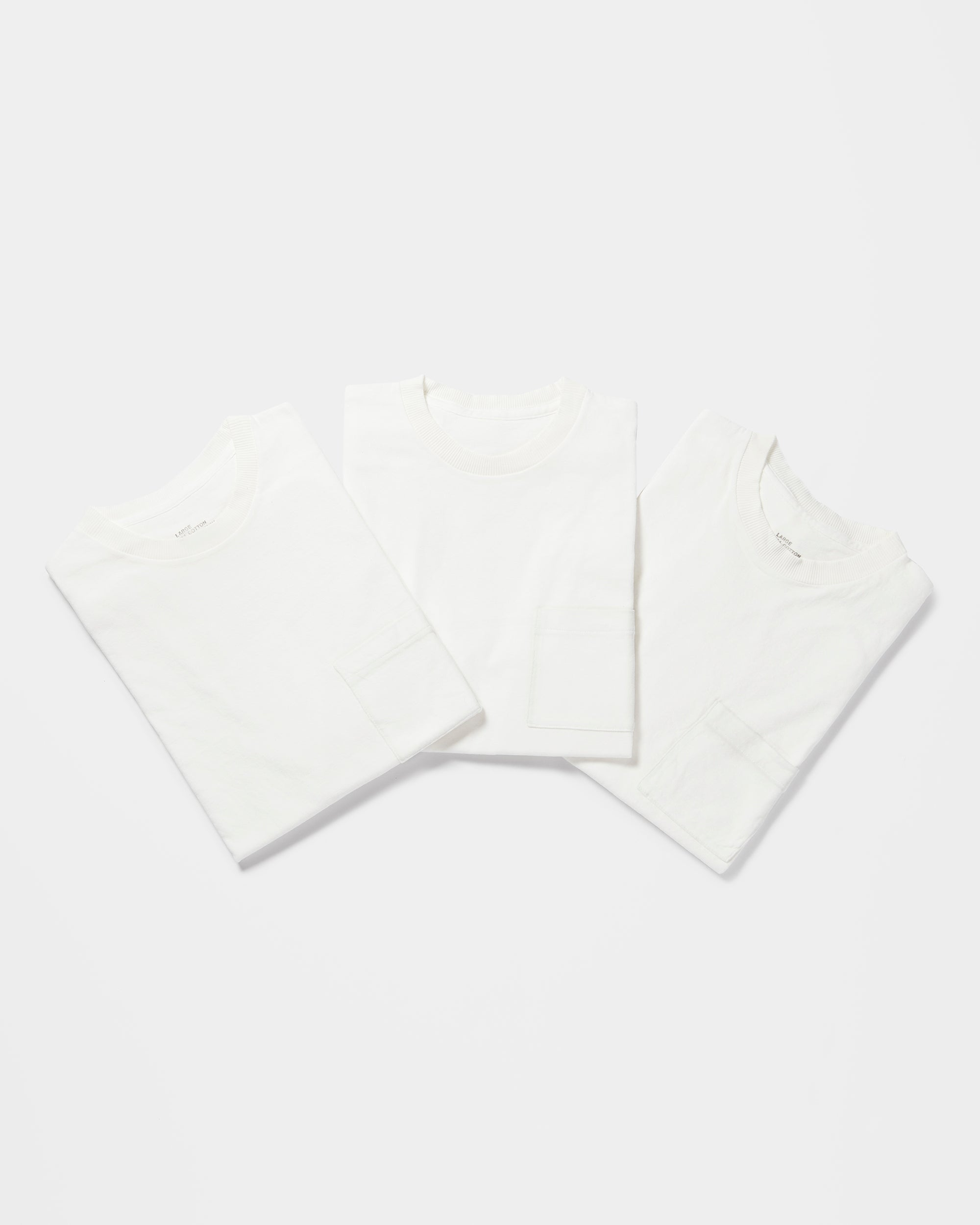 3-Pack Original Classic Pocket T-shirts White