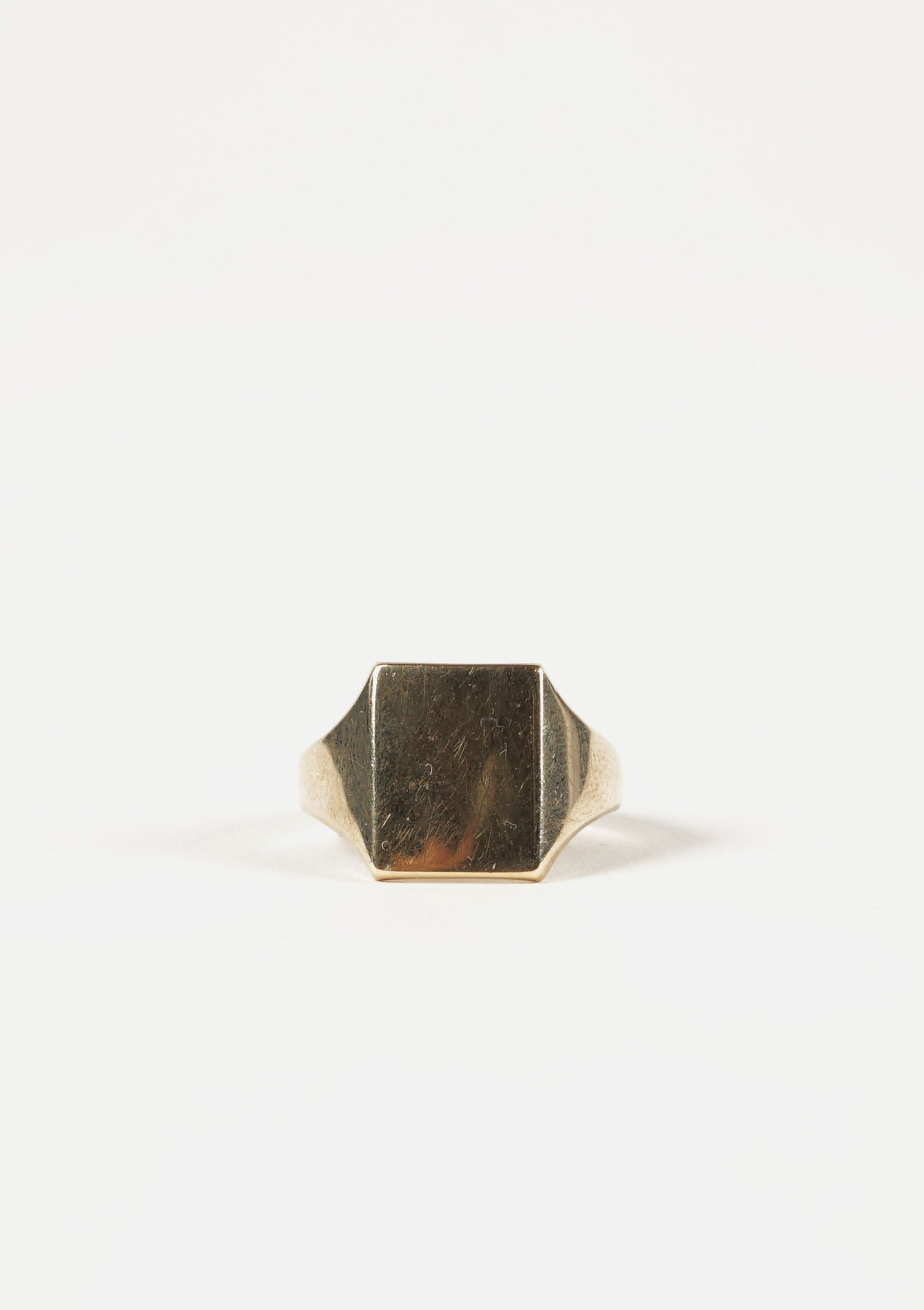 9K Square Gold Ring