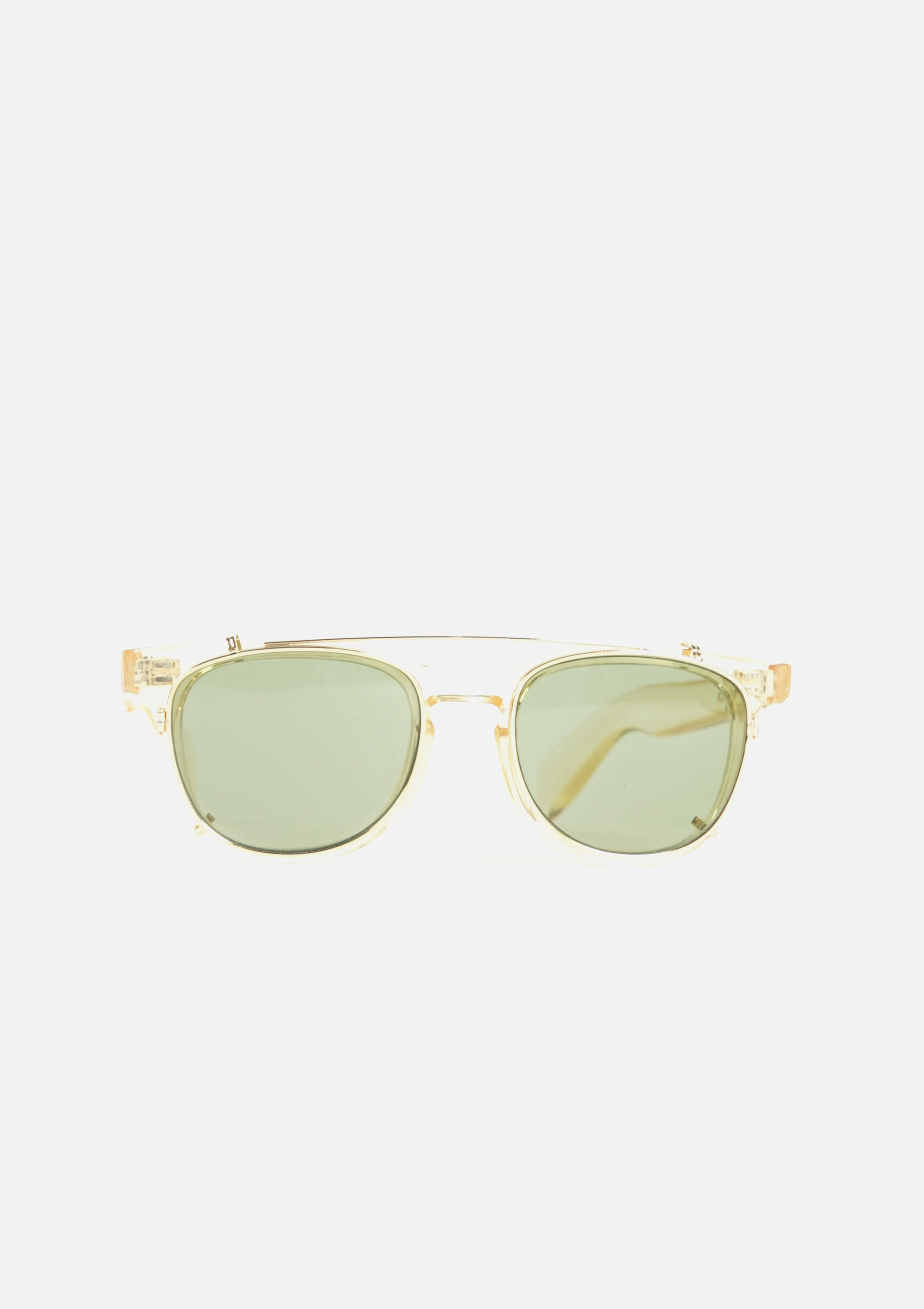SKY Clip on Sunglasses Clear Yellow