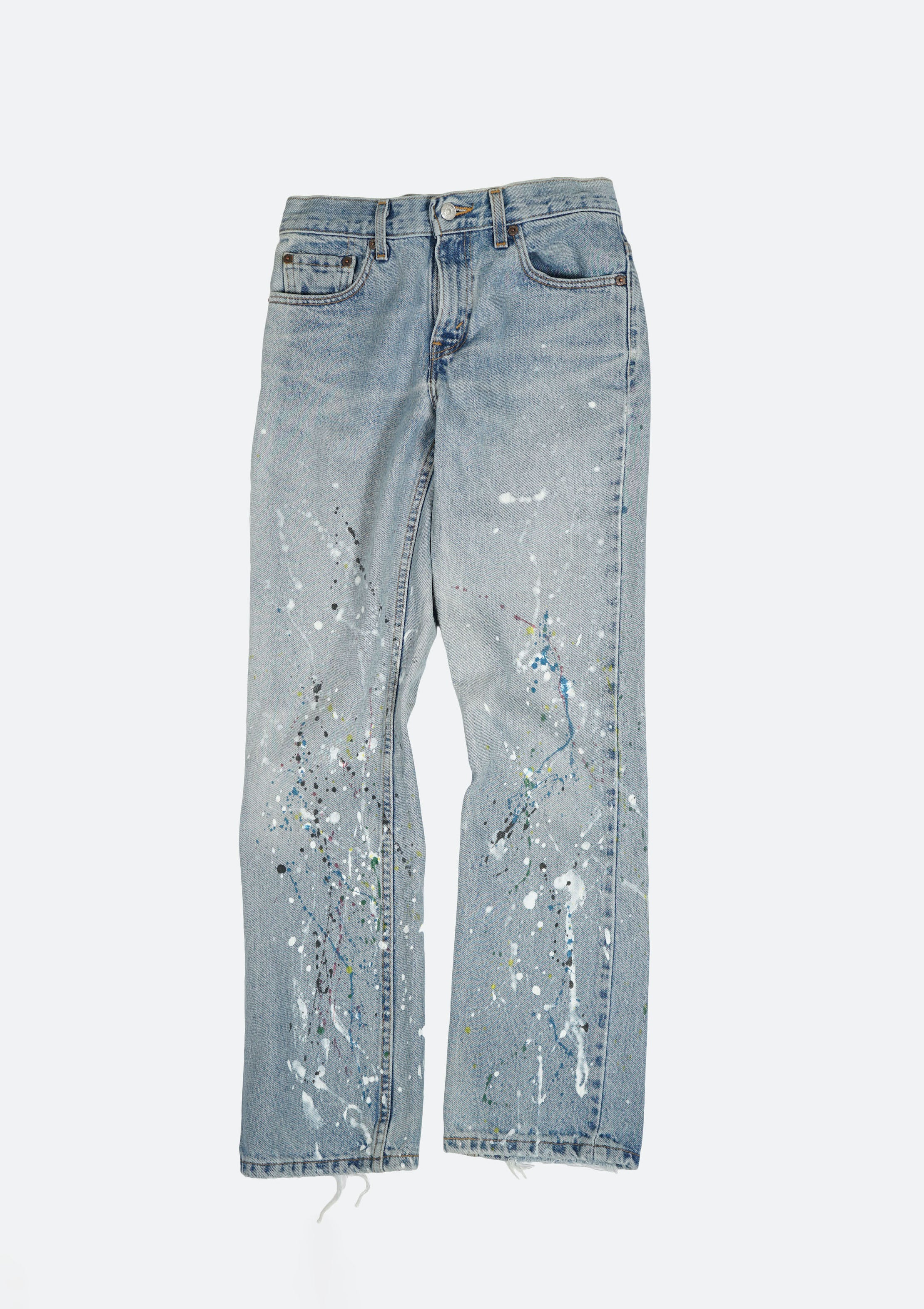 Splatter Painted Denim Pants W29