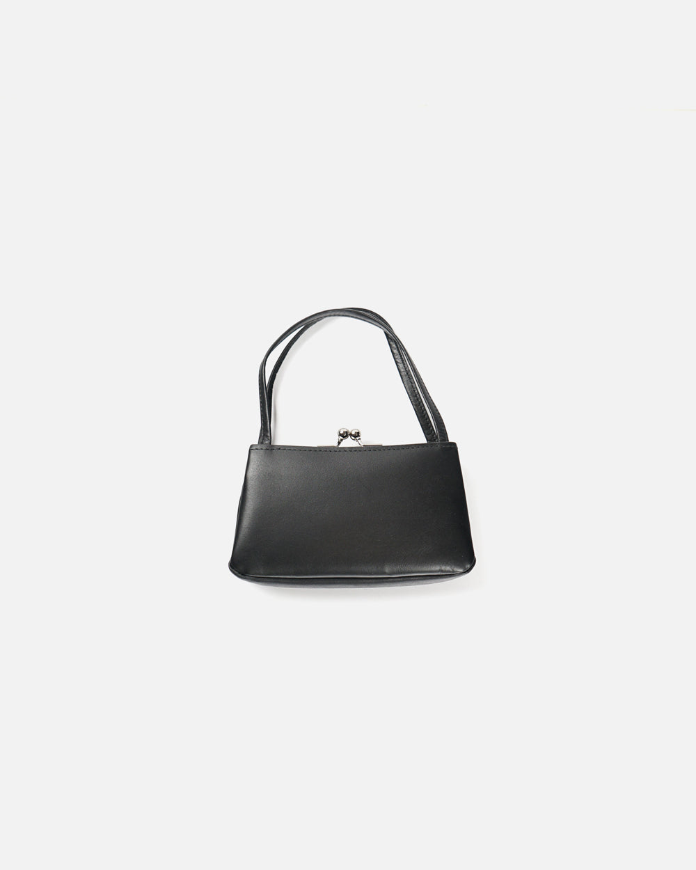 Black Leather Purse With Handle