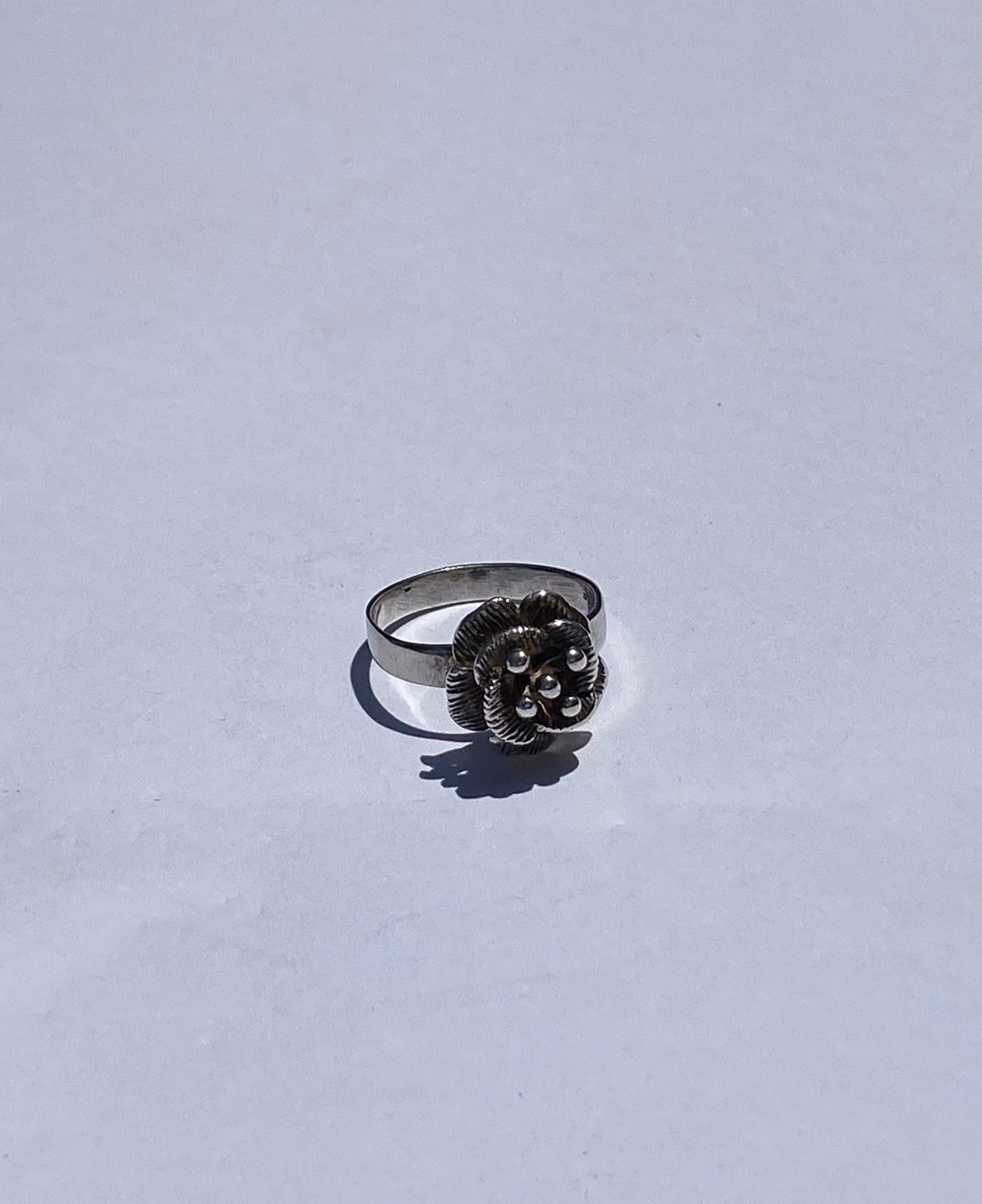 Sweet Flower Silver Ring