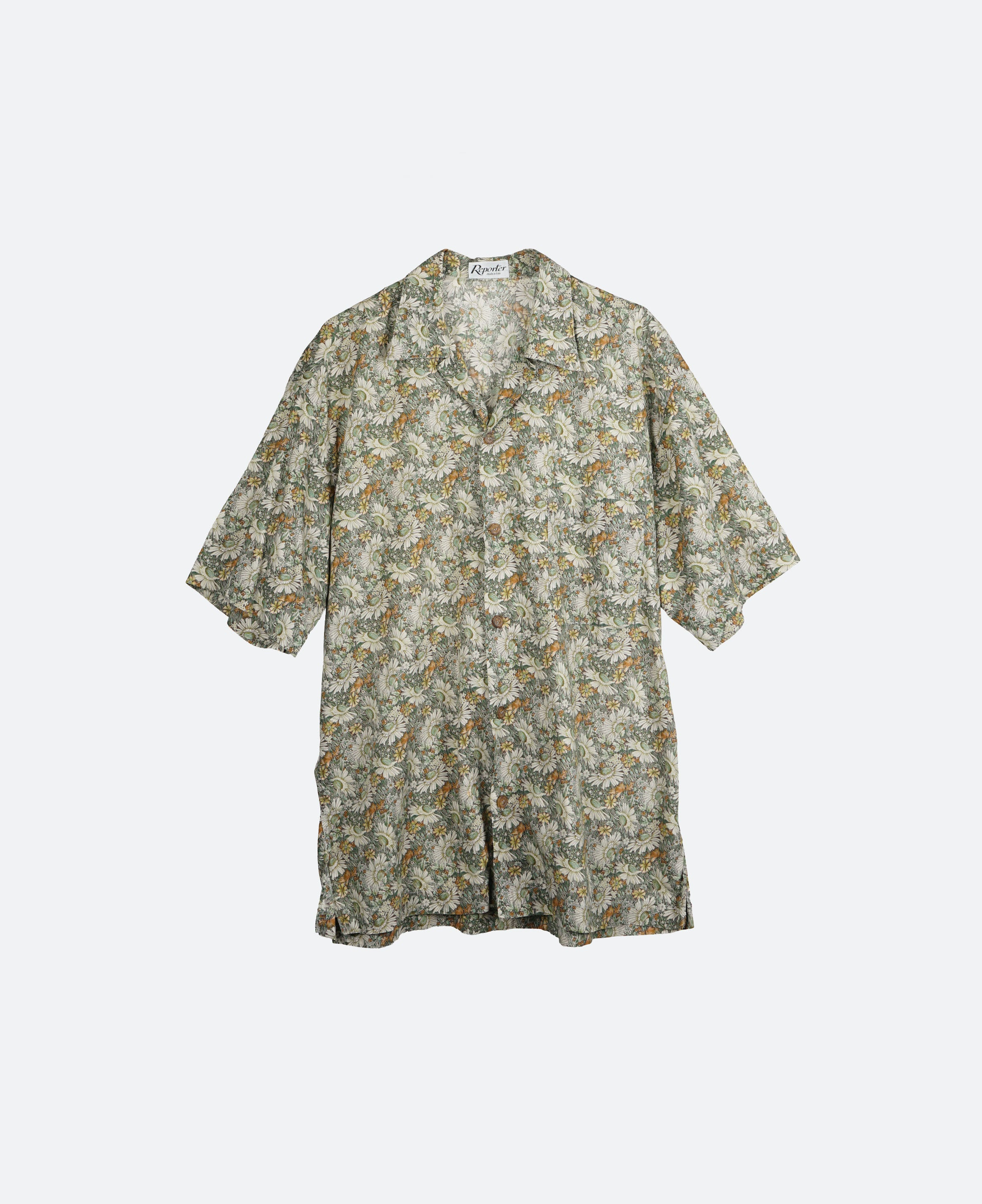 Flower Pattern Shirts S/S