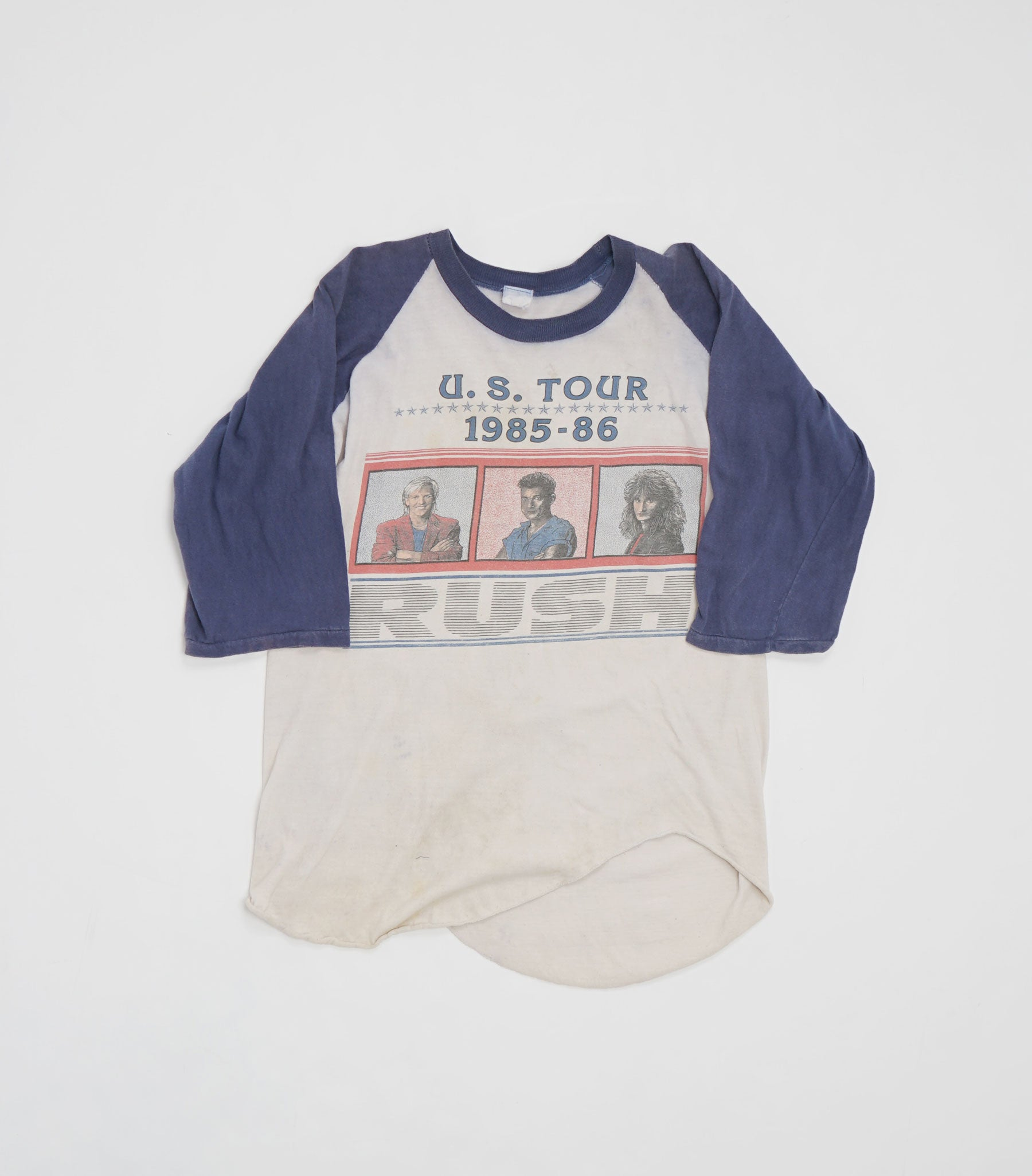 1985 Rush US Tour Baseball Tee