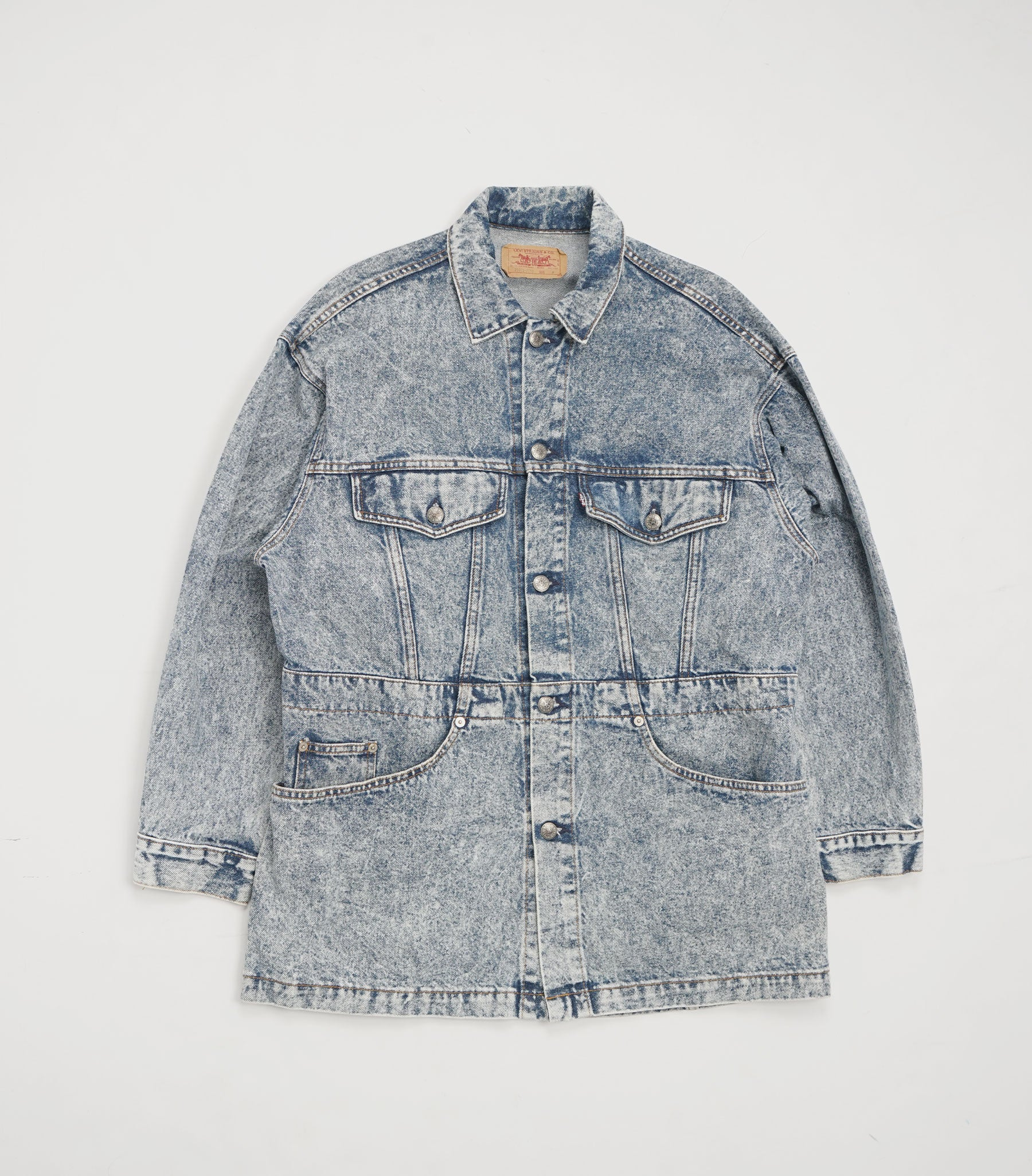 1990's Chemical Wash Denim Coverall