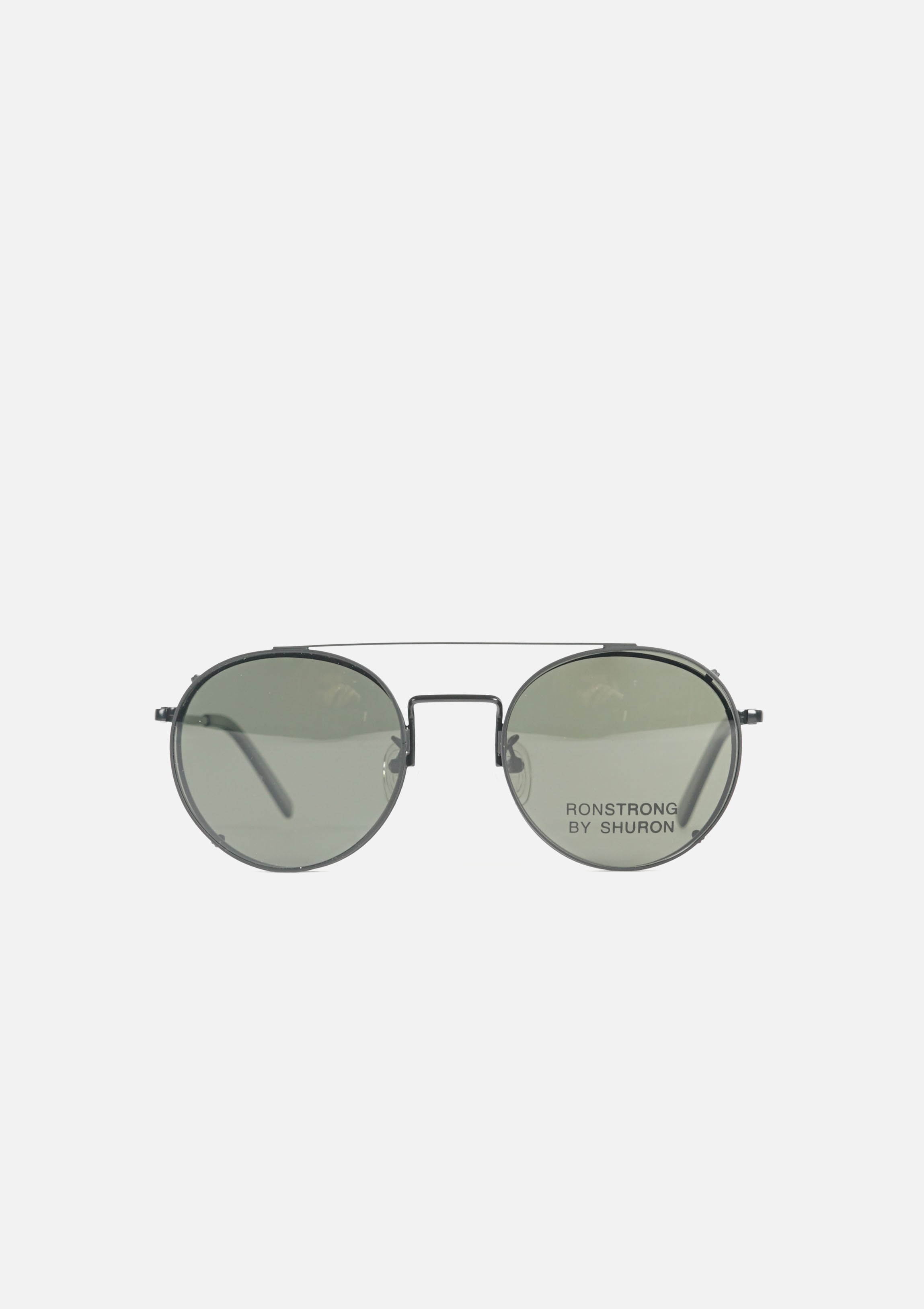 RONSTRONG Clip on Sunglasses Black