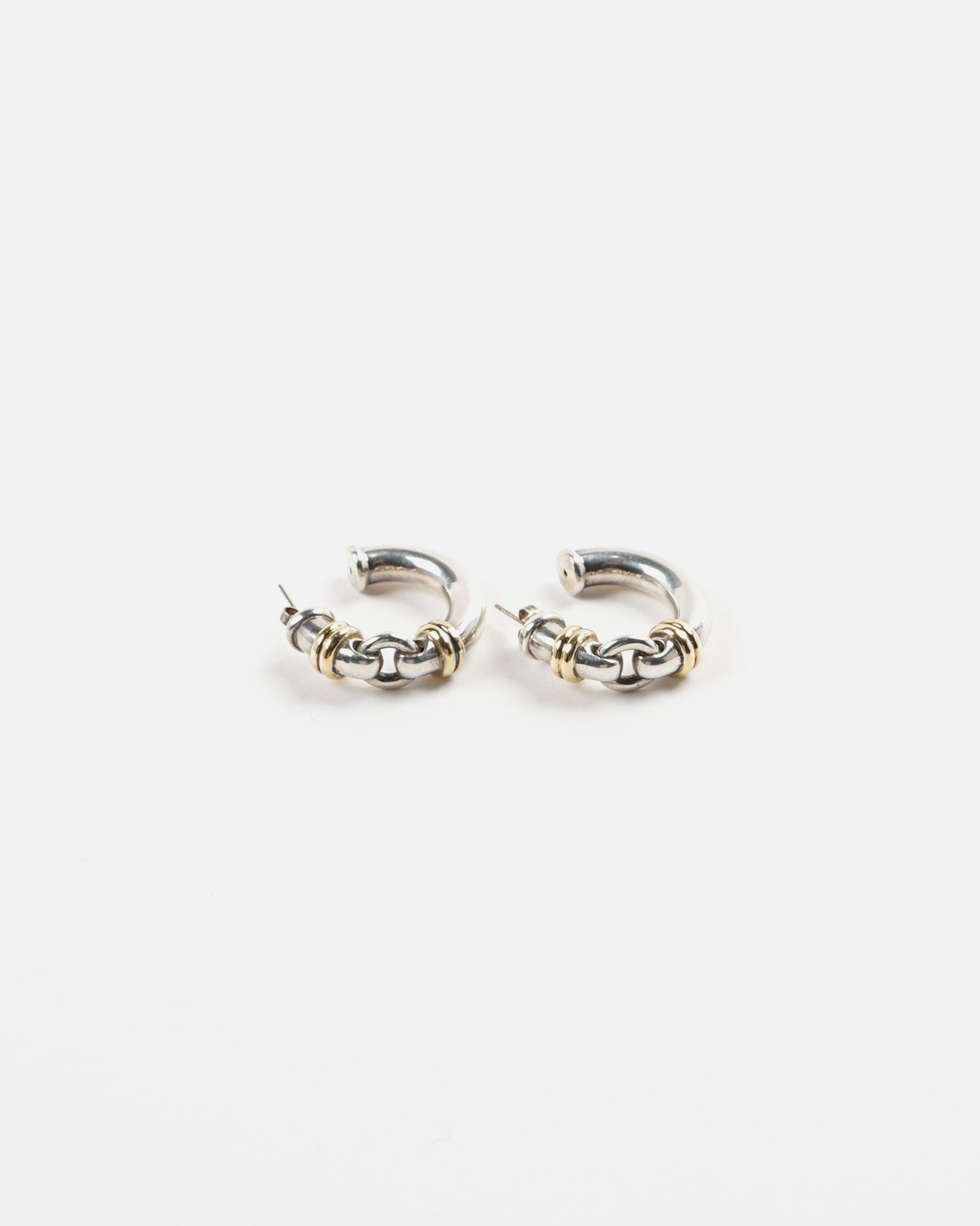 18k / Silver Hoop Earrings