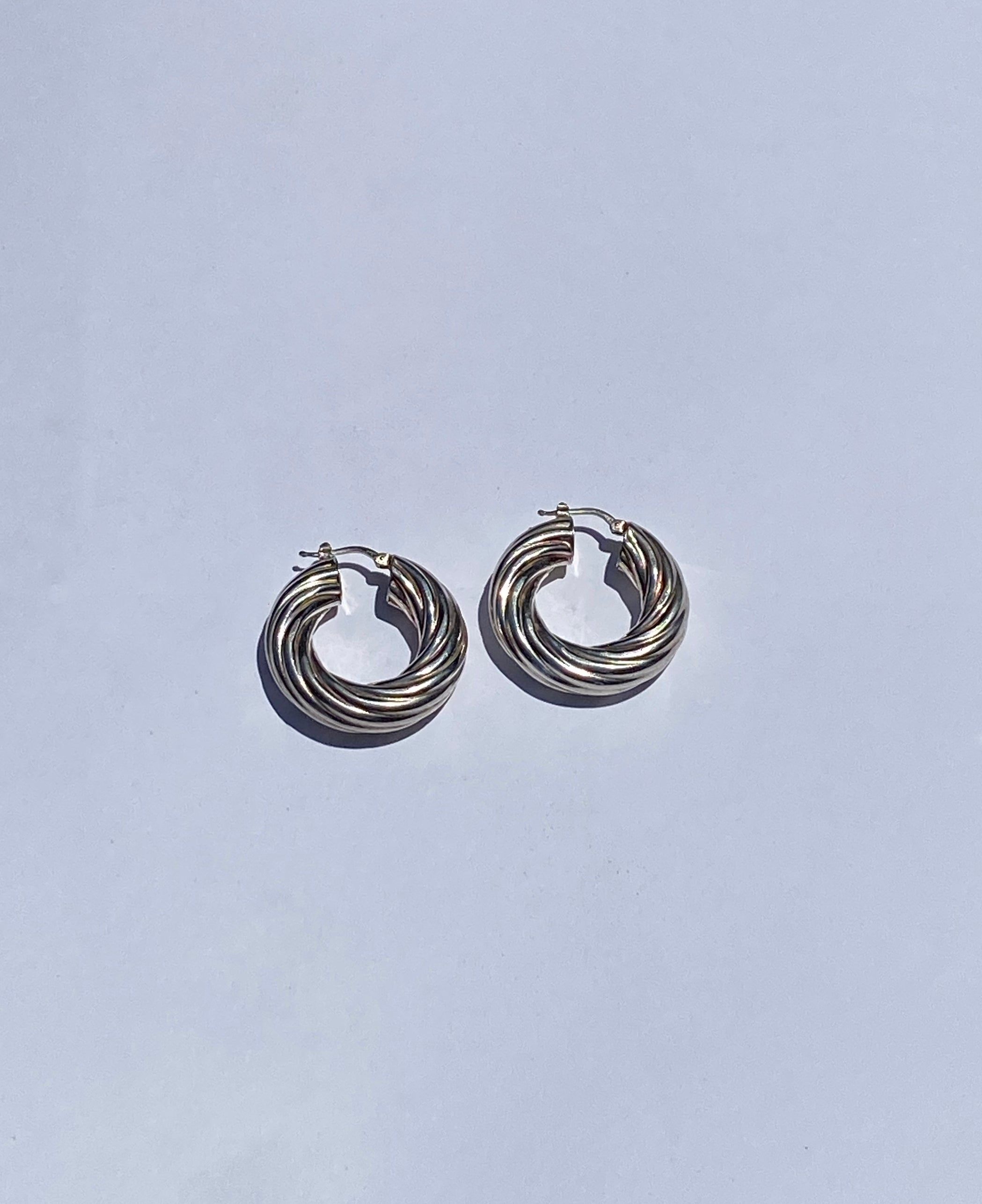Large Rope Hoop Earrings