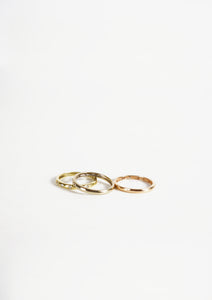 <strong>VINTAGE</strong></br>18k Stacking Ring /YG,PG