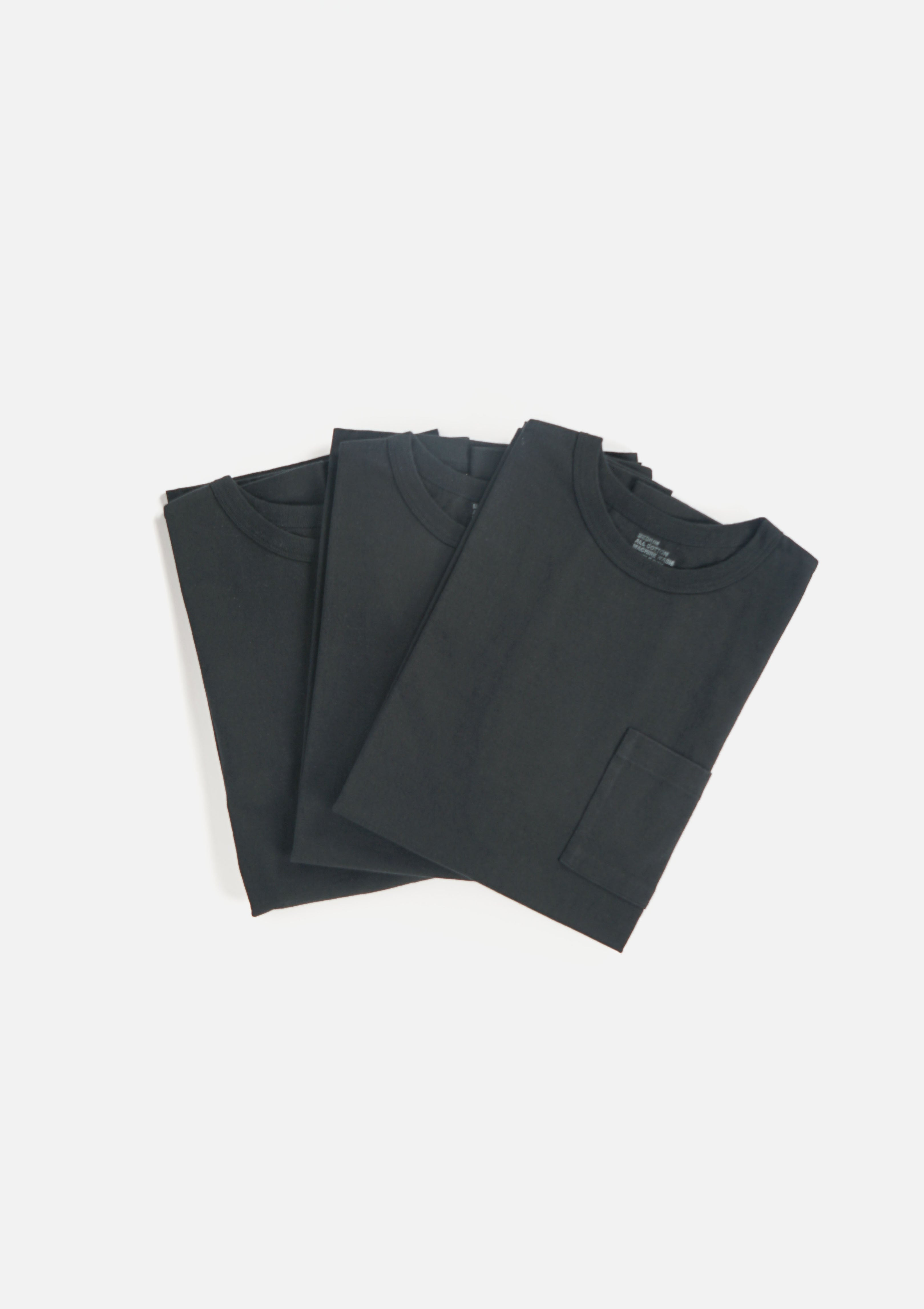 3-Pack Heavyweight Pocket T-shirts Black (You Save 10%)