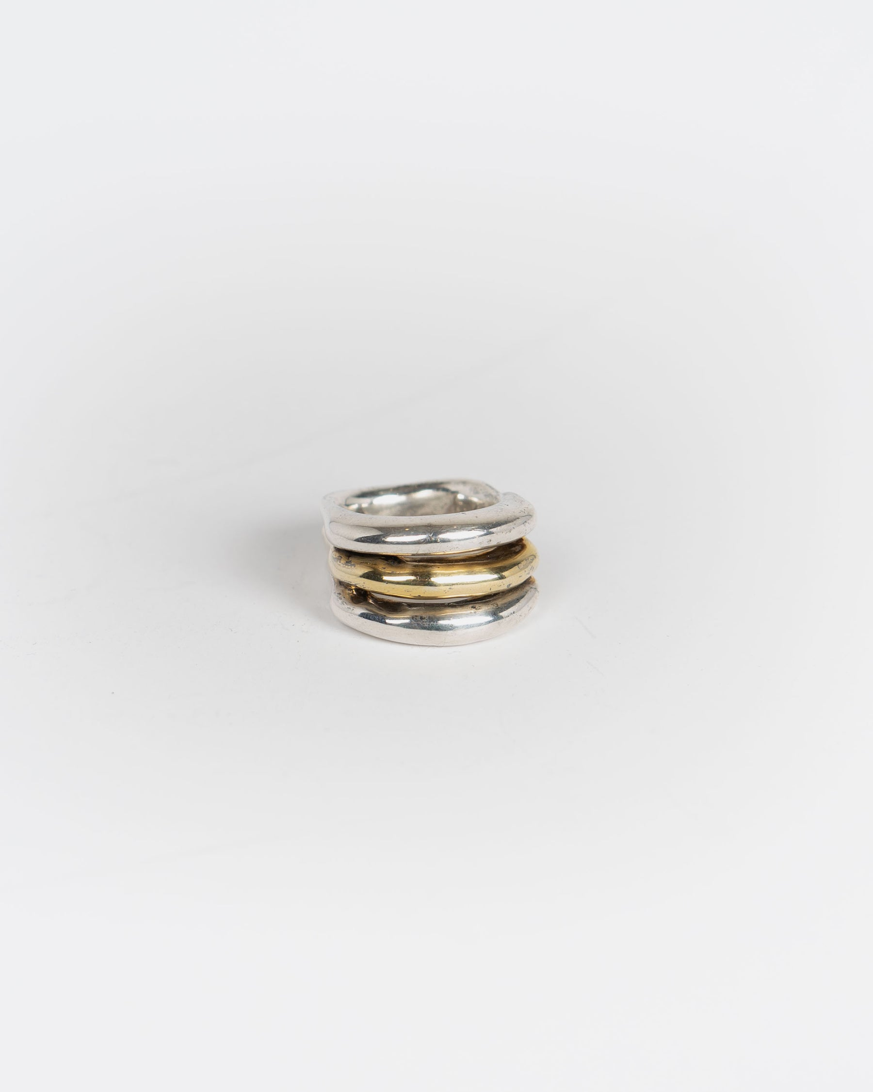 Two Tone Silver Ring