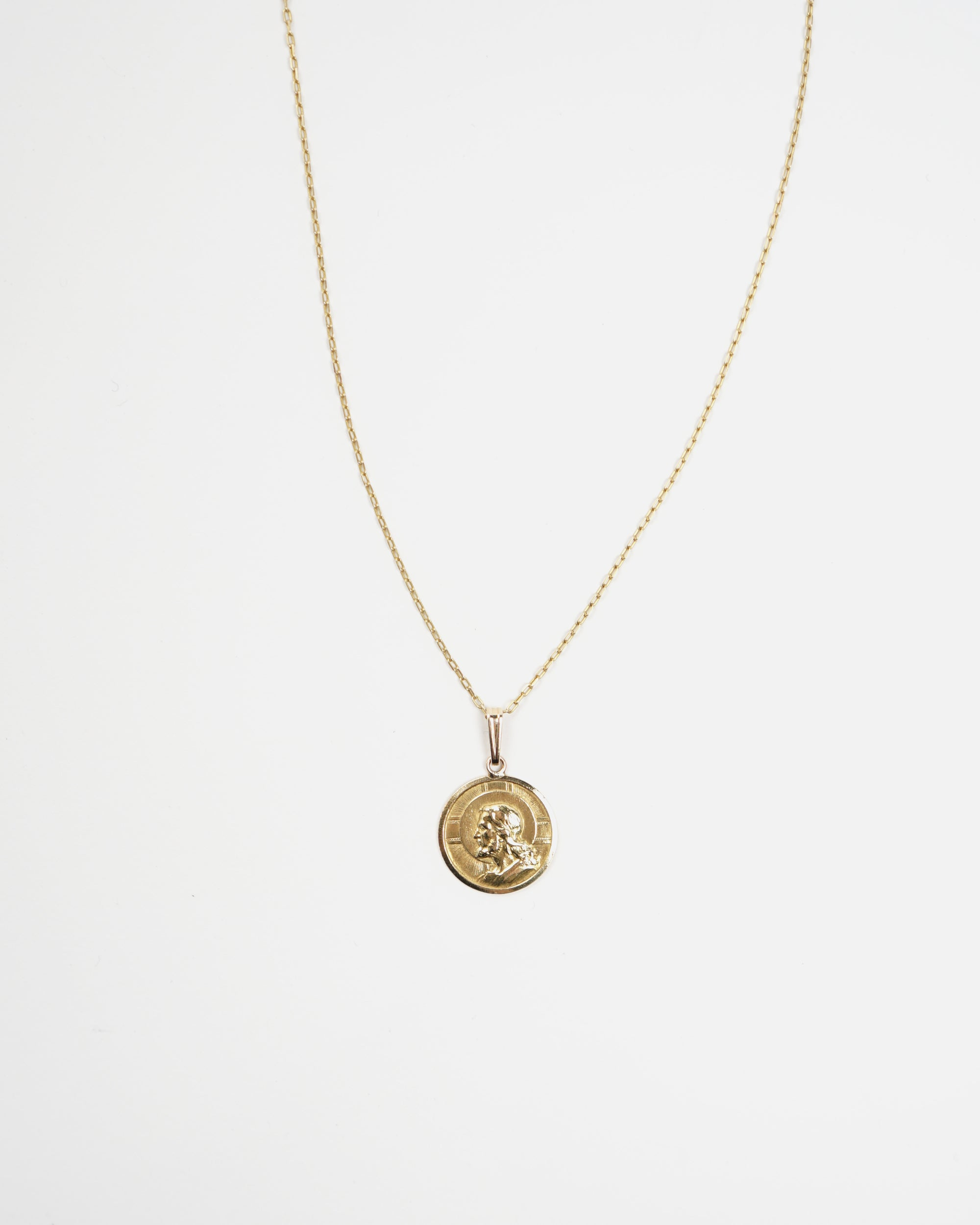 18k Coin Charm Necklace