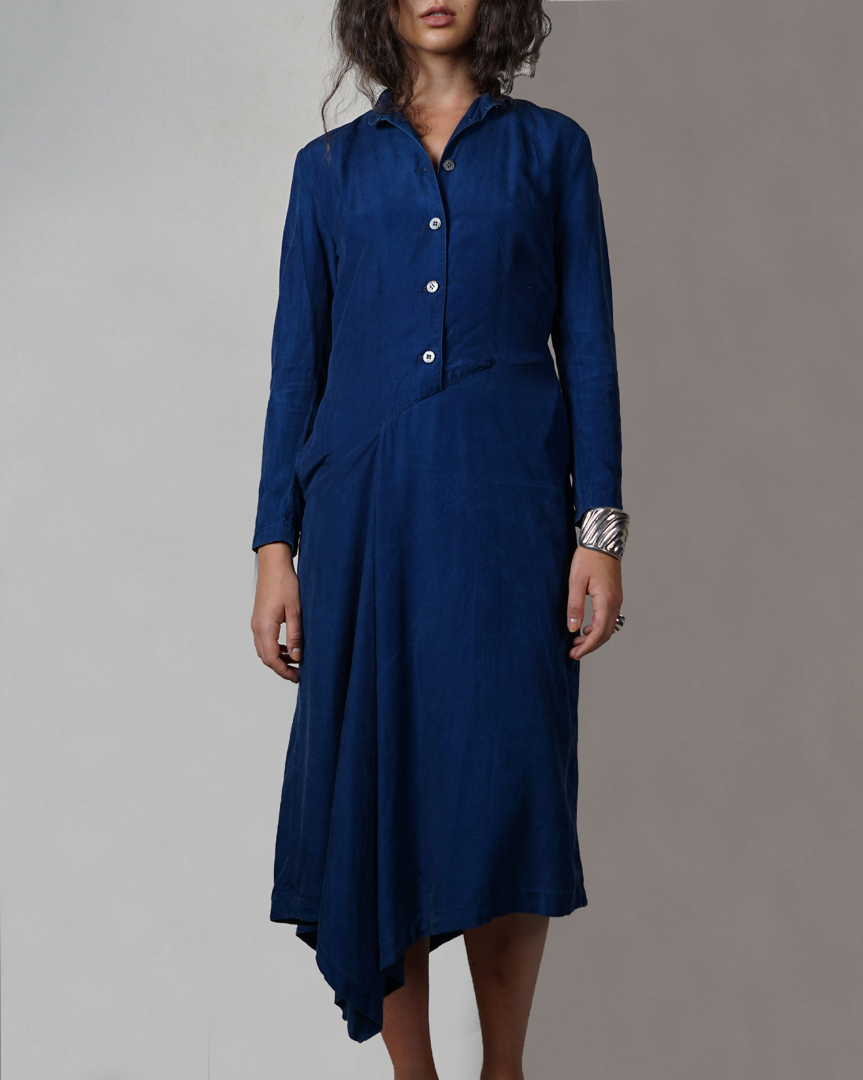 Indigo Asymmetry Dress