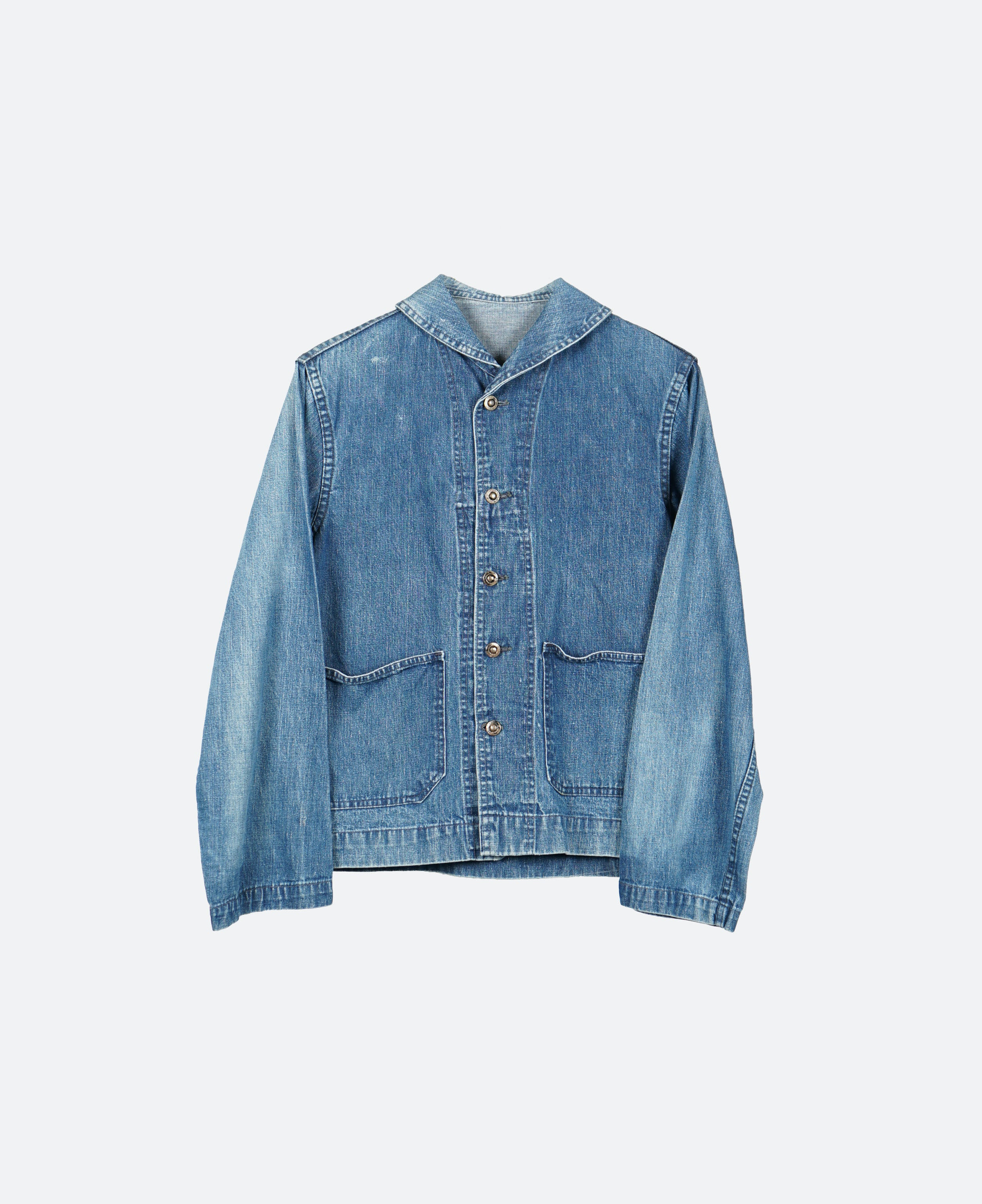 Denim Shawl Collar Jacket