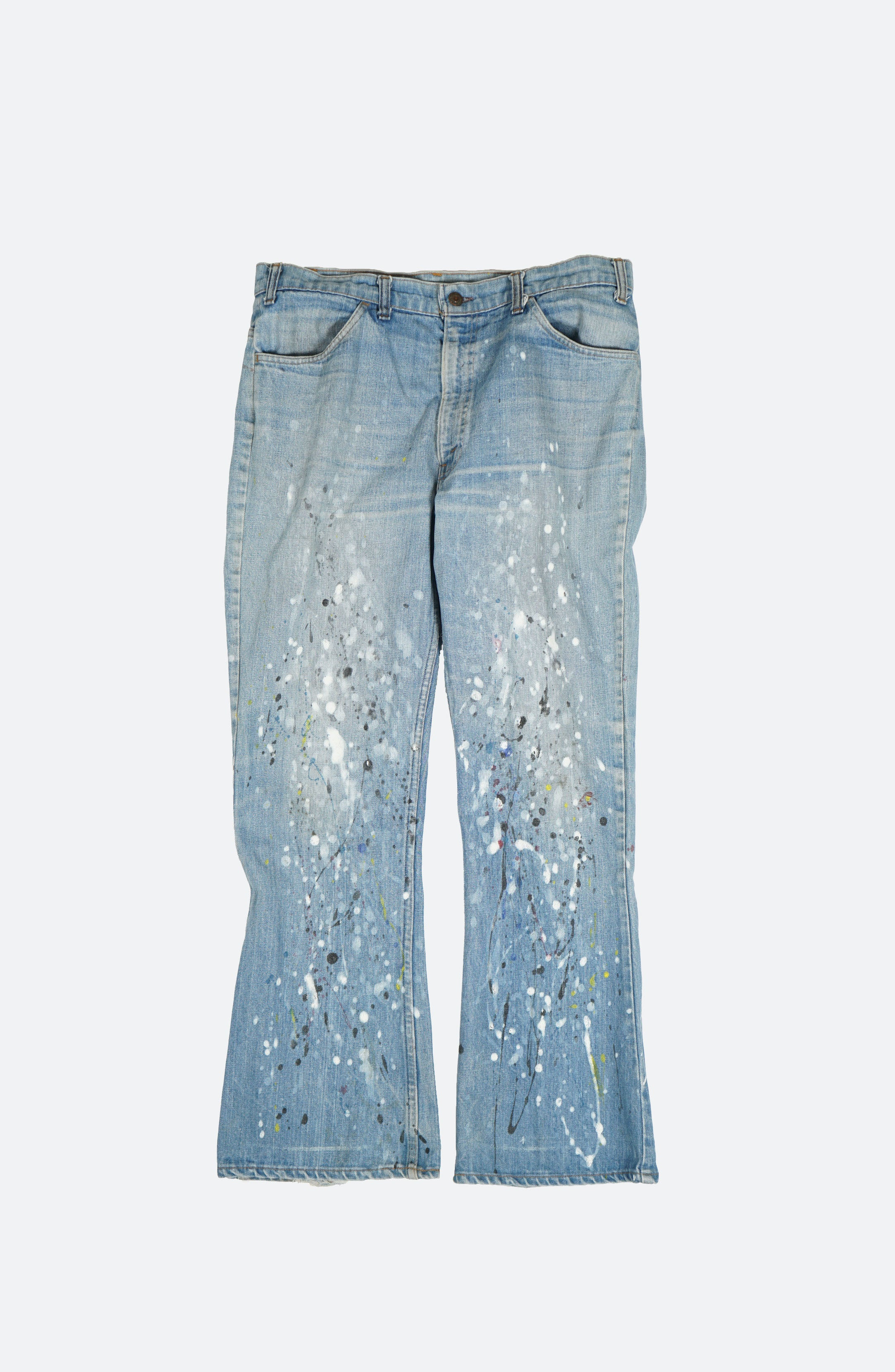 Splatter Painted Denim Pants W35