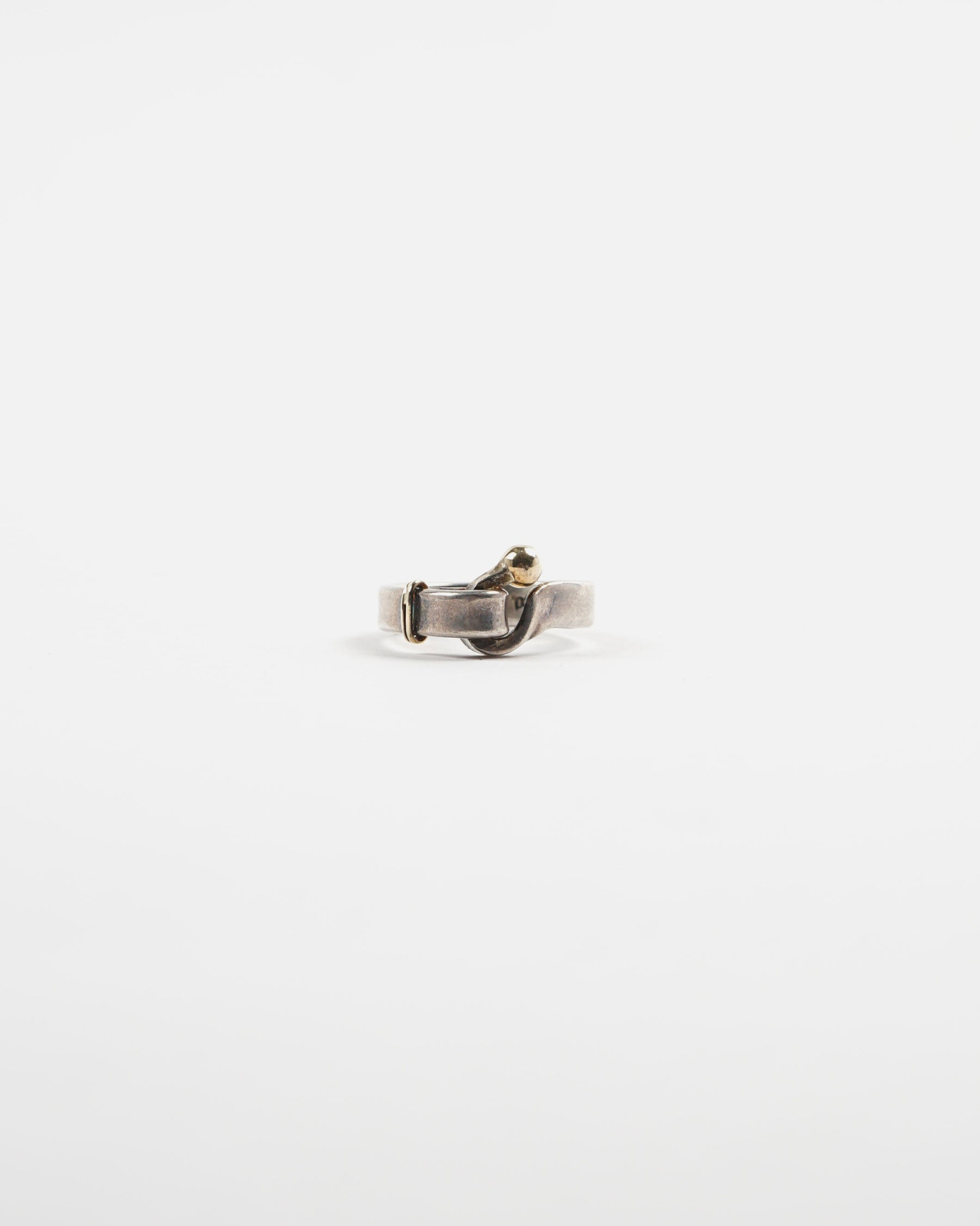 Two Tones 14k / Silver Ring