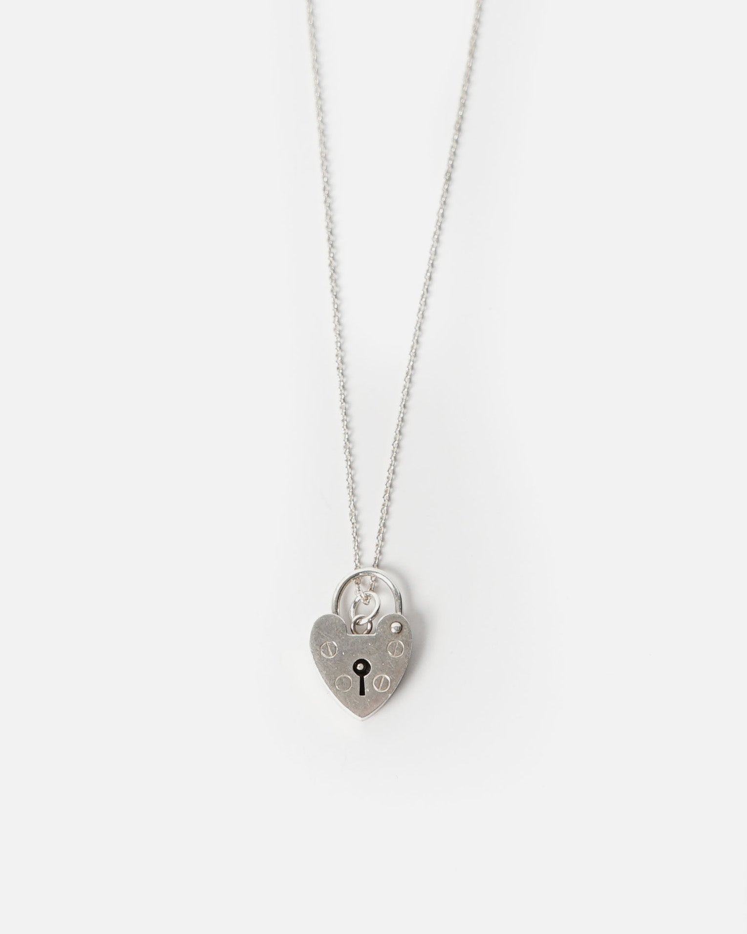 Silver Heart Rock Necklace