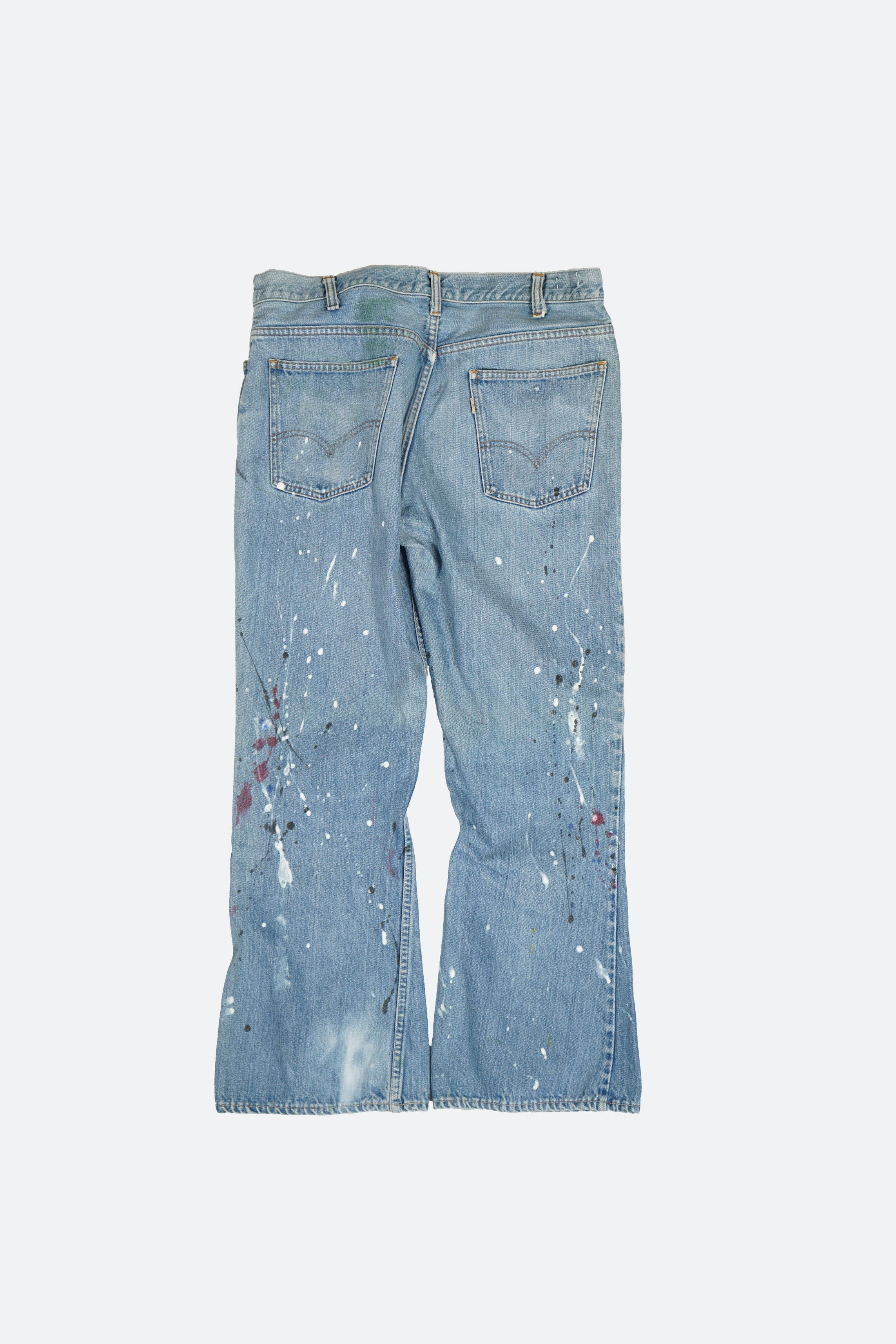 Splatter Painted Denim Pants W37