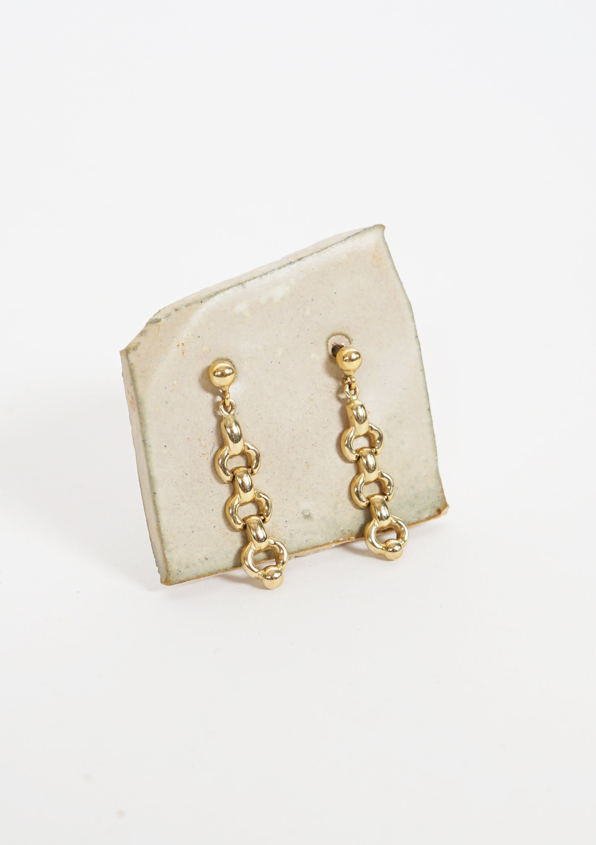 18k Gold Chain Earrings