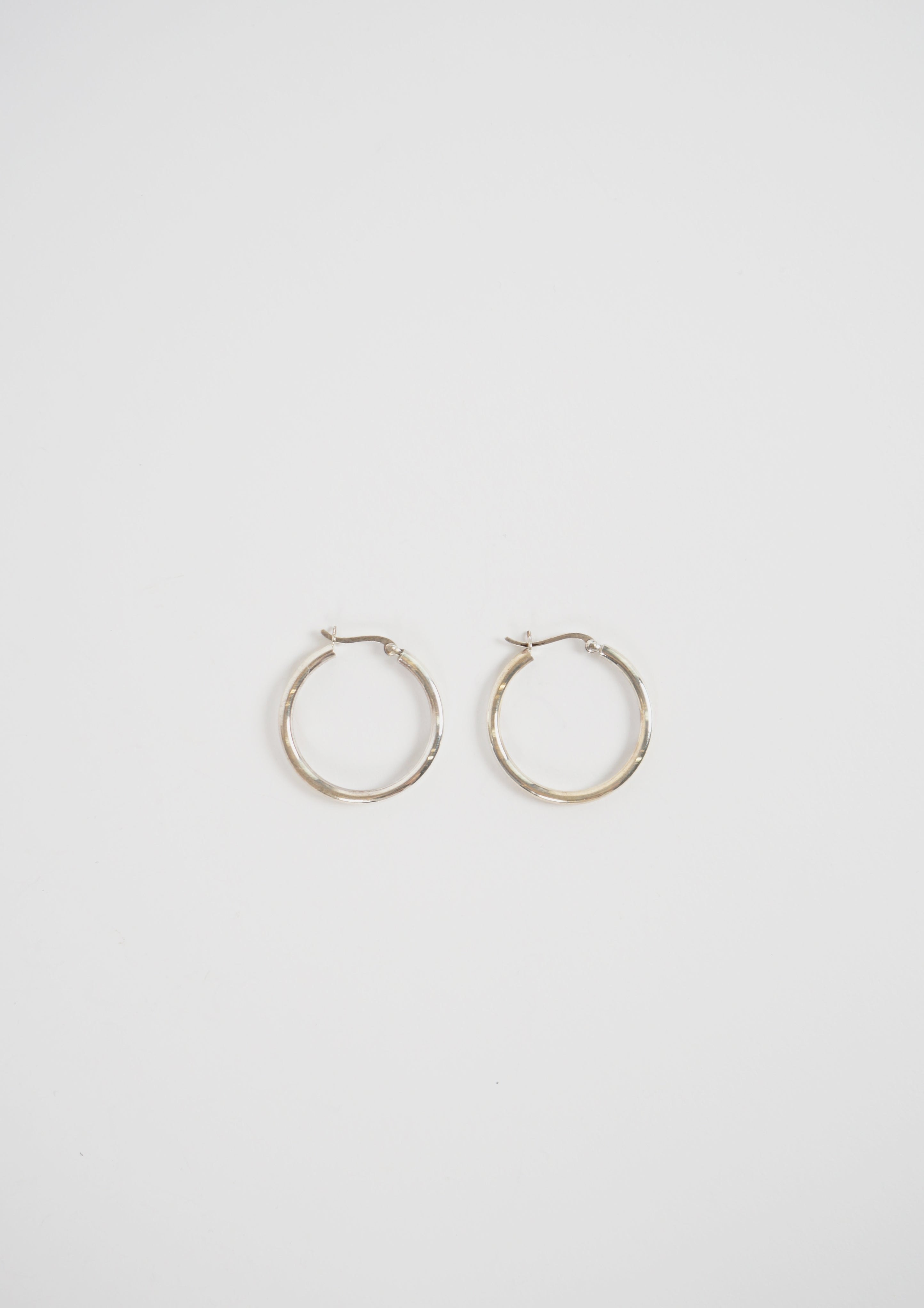 Silver Essential Hoops
