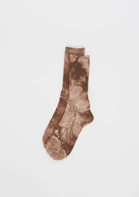 Tie Dye Socks / Brown