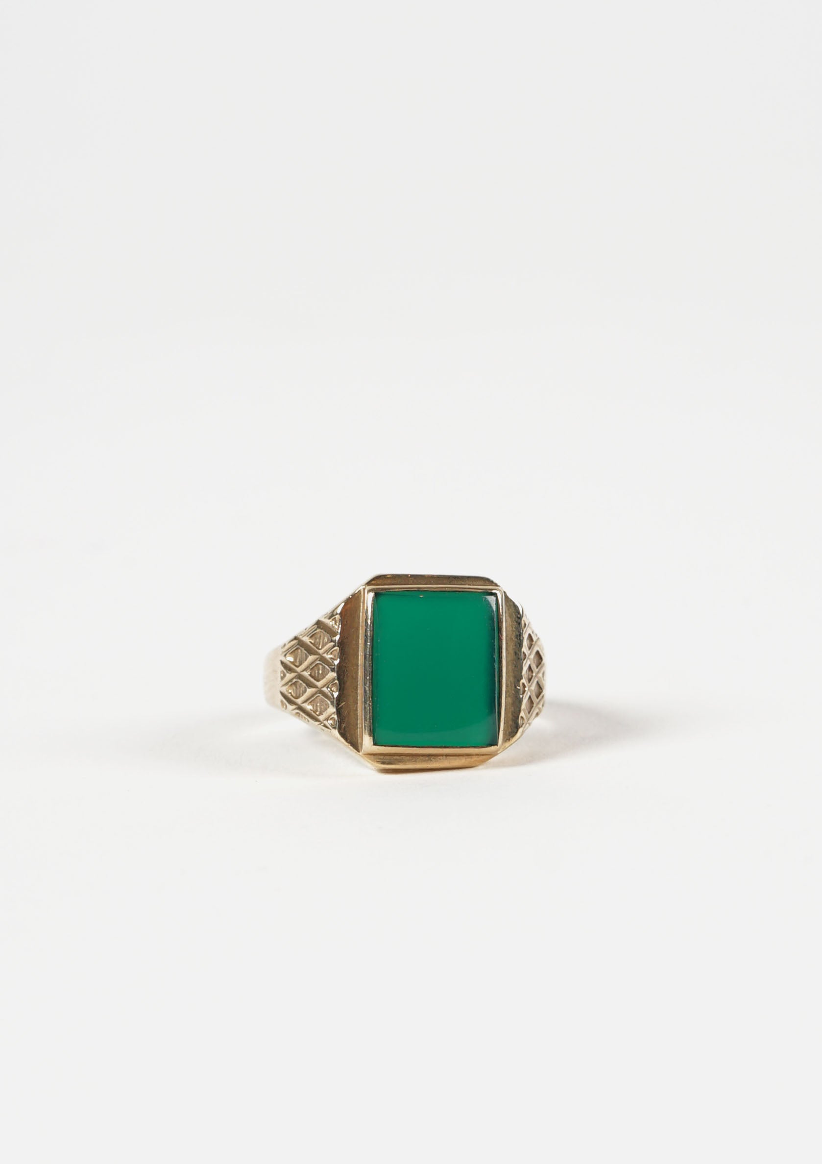 English Square Gold Ring