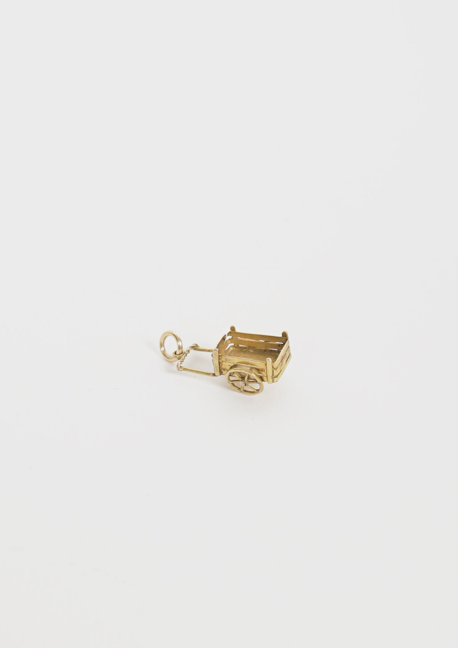 Gold Carriage Charm