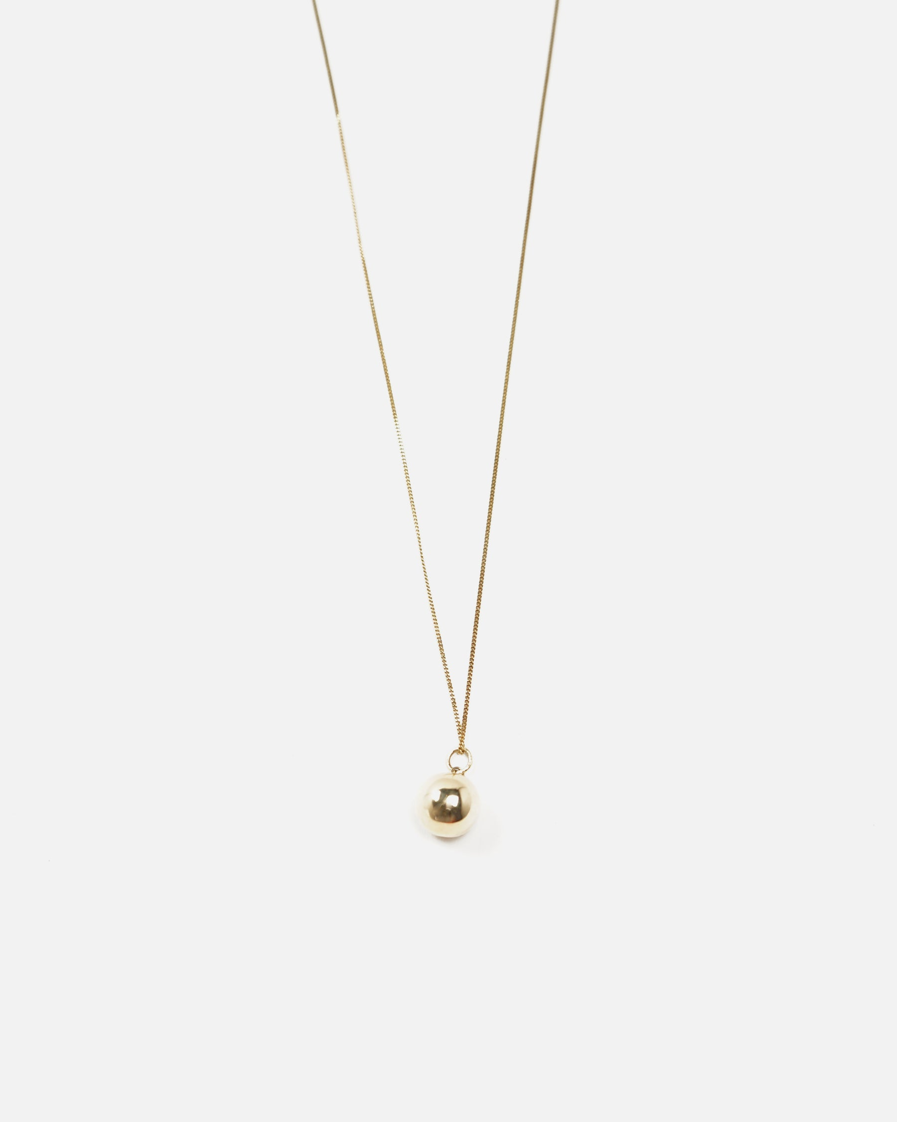 14K Gold Ball Charm Necklace