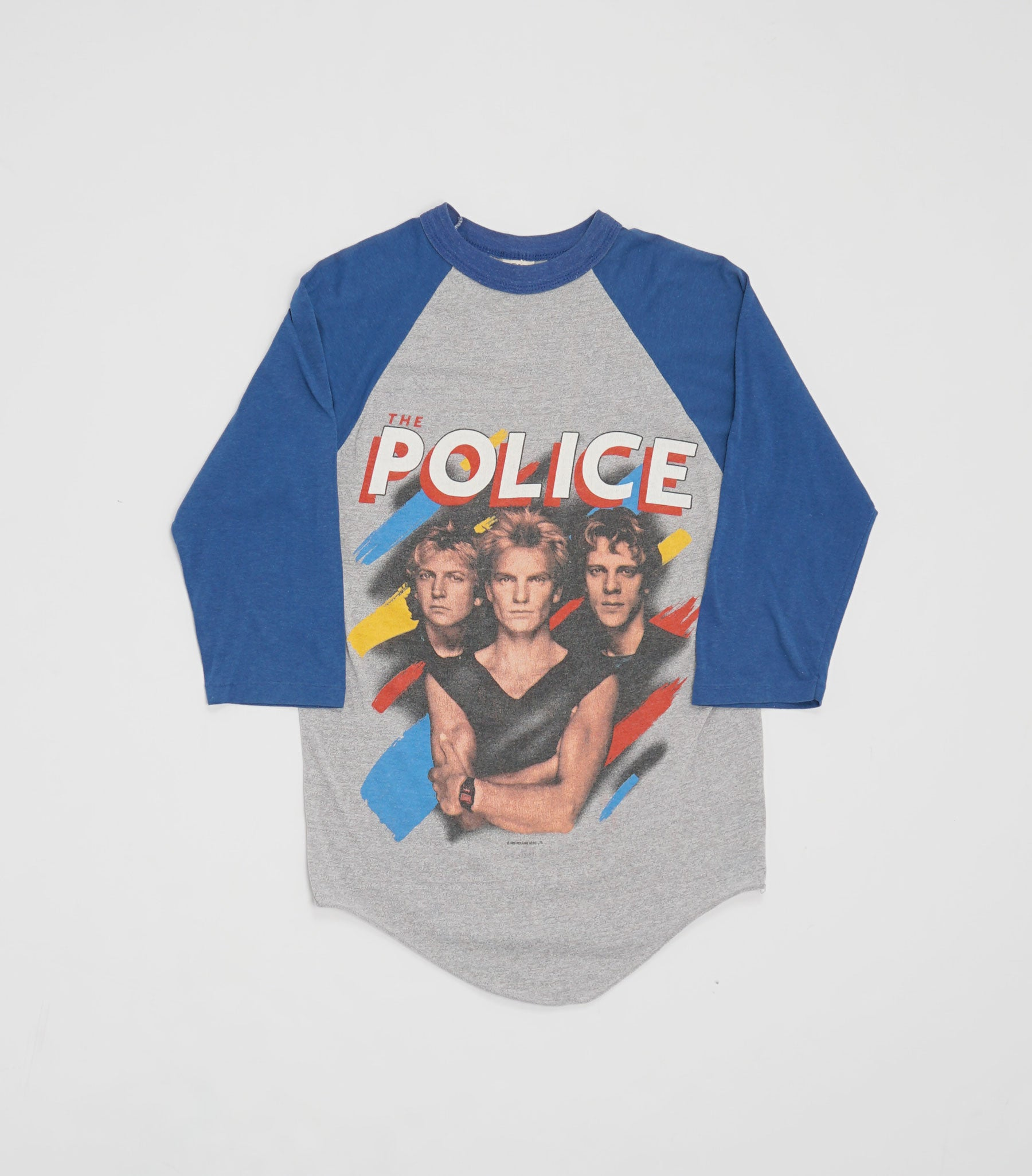 1983 The Police Synchronicity Baseball Tee