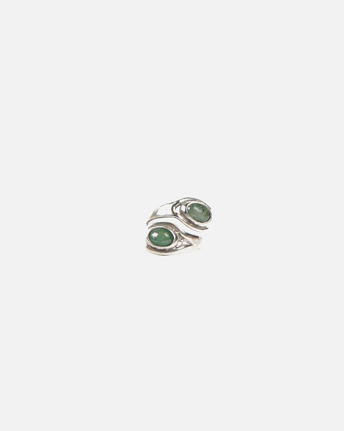 Silver x Green Jade Stone Ring