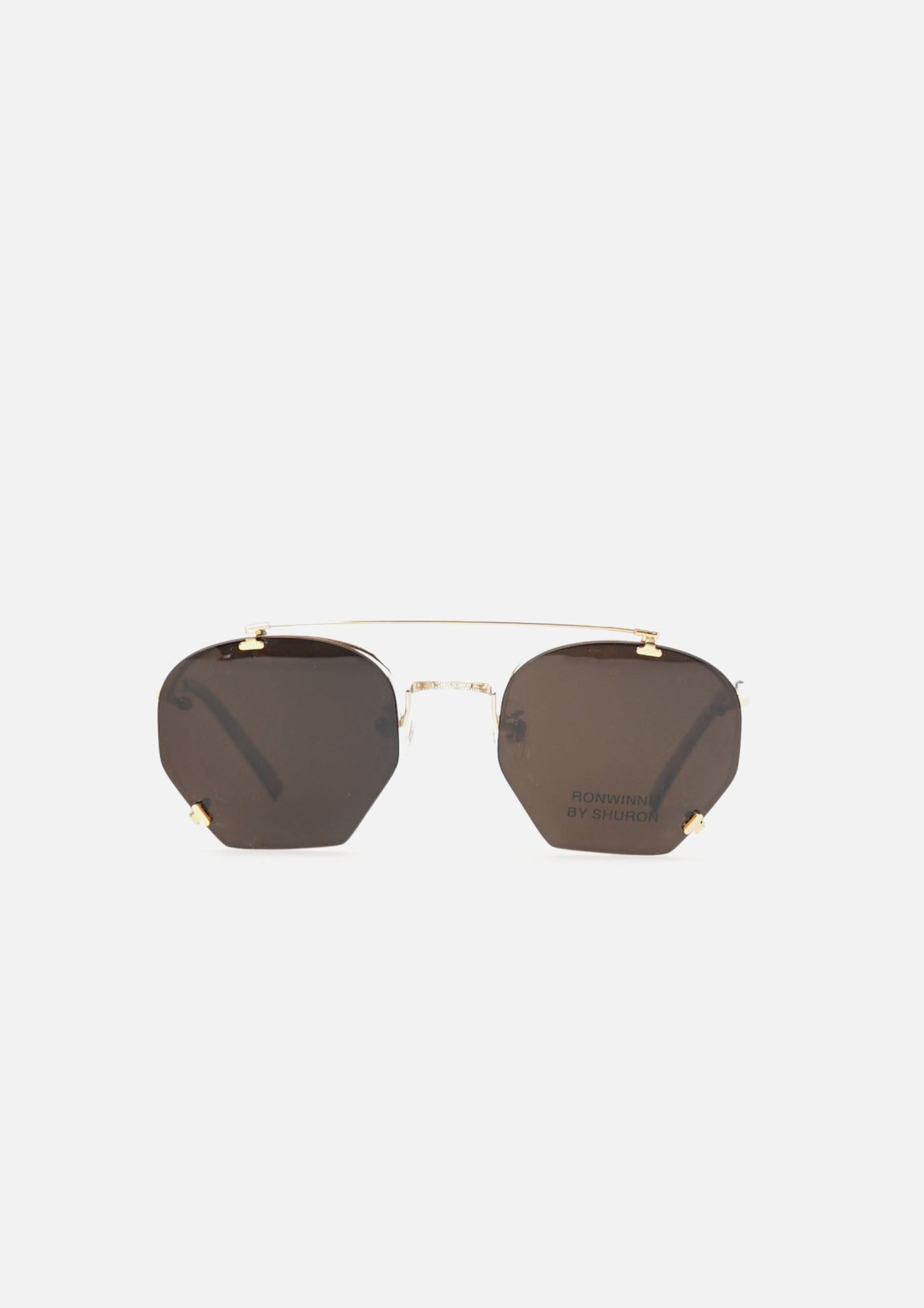 RONWINNE  Clip on Sunglasses  Gold