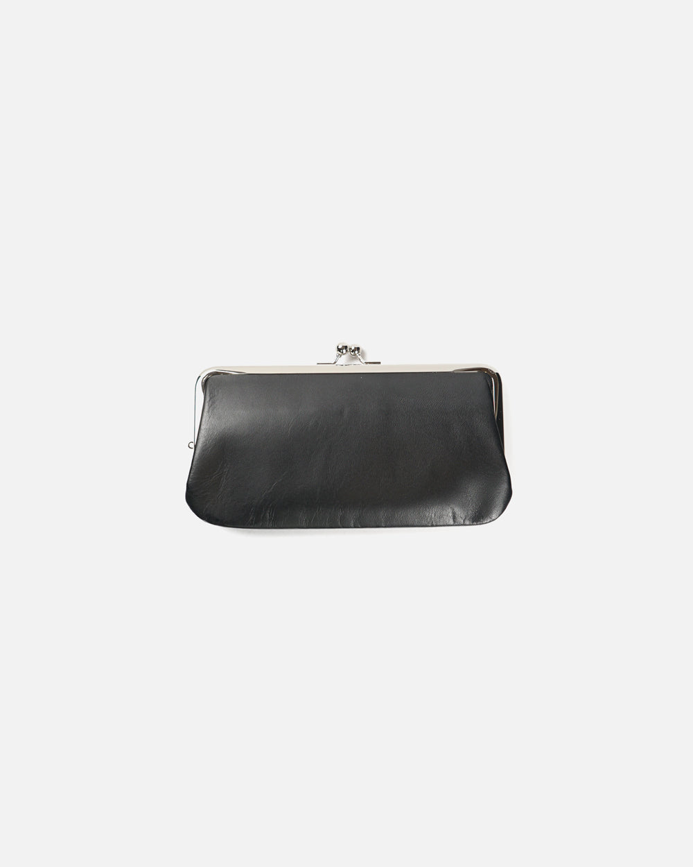 Black Leather Purse Long