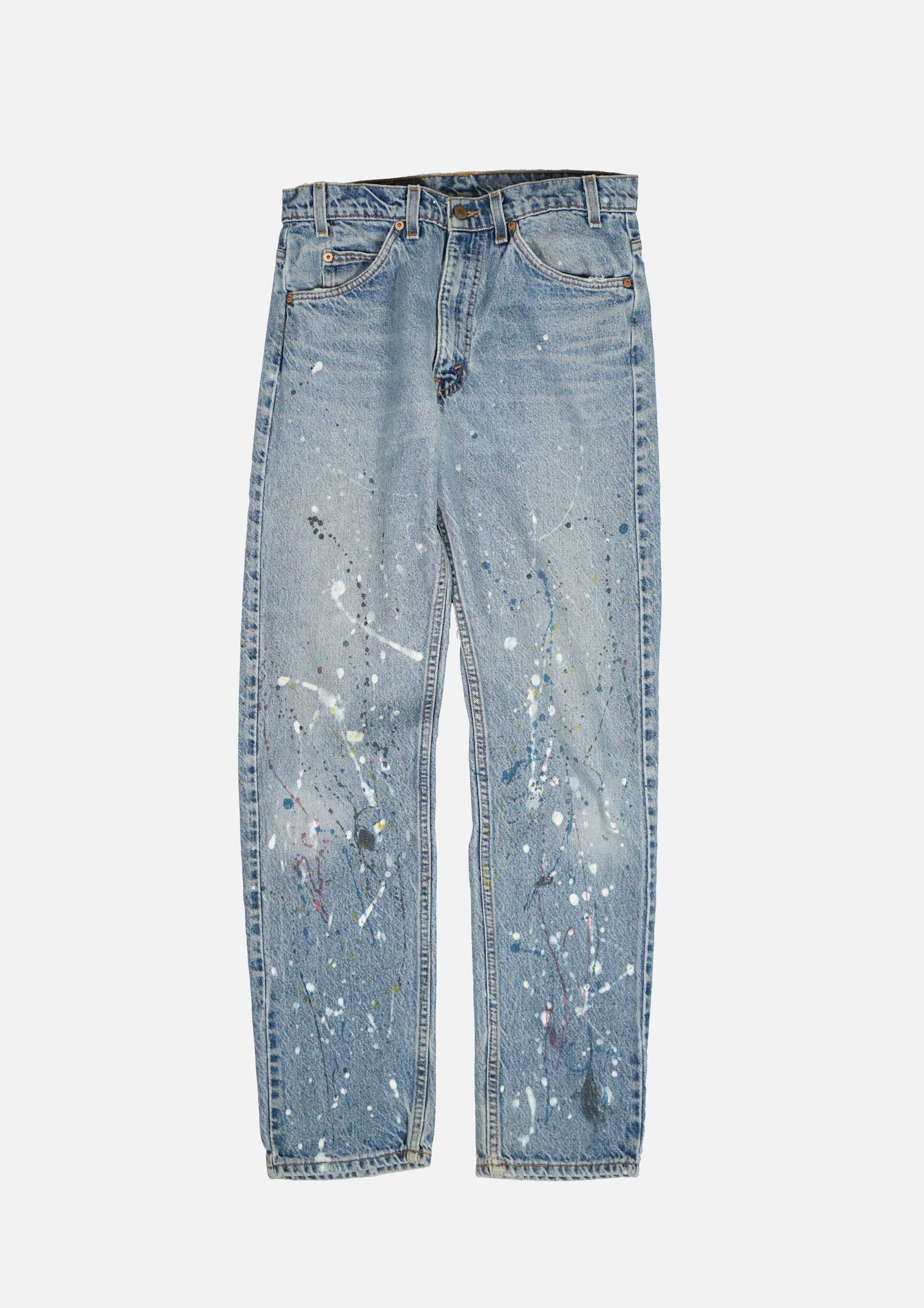 Splatter Painted Denim Pants W31