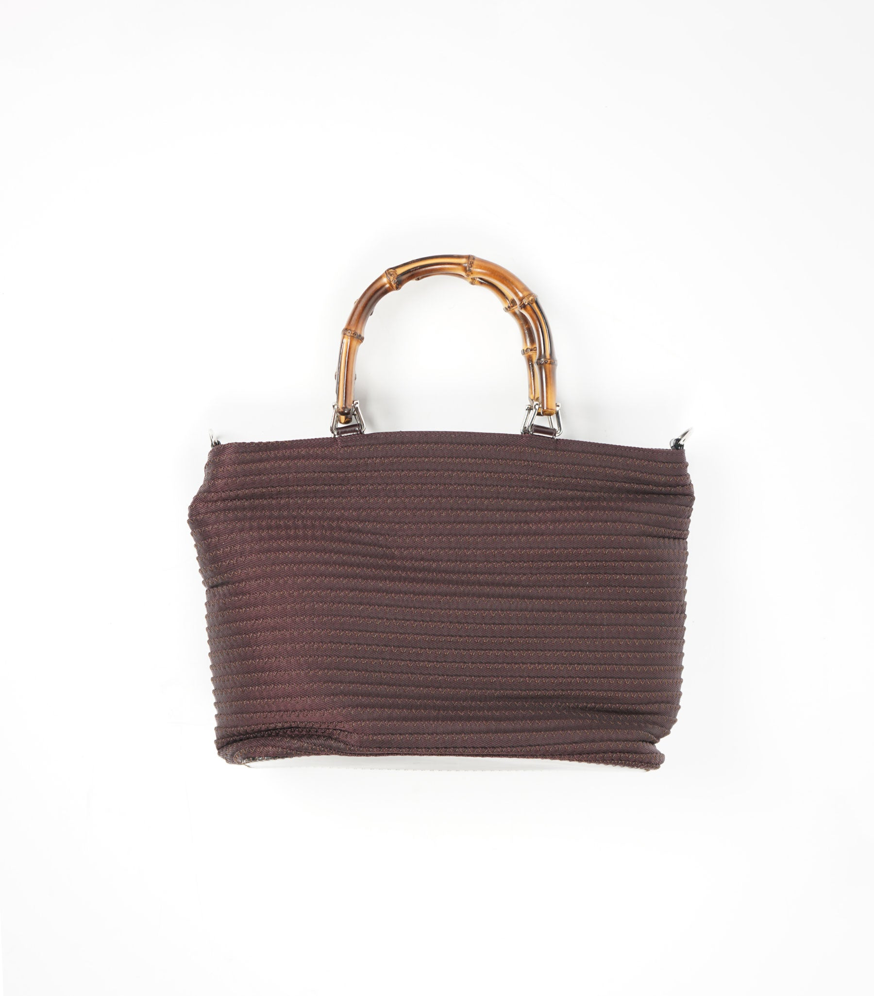 Nylon Bag With Bamboo Handle