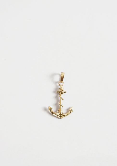 <strong>VINTAGE</strong></br>14k Gold Anchor Charm