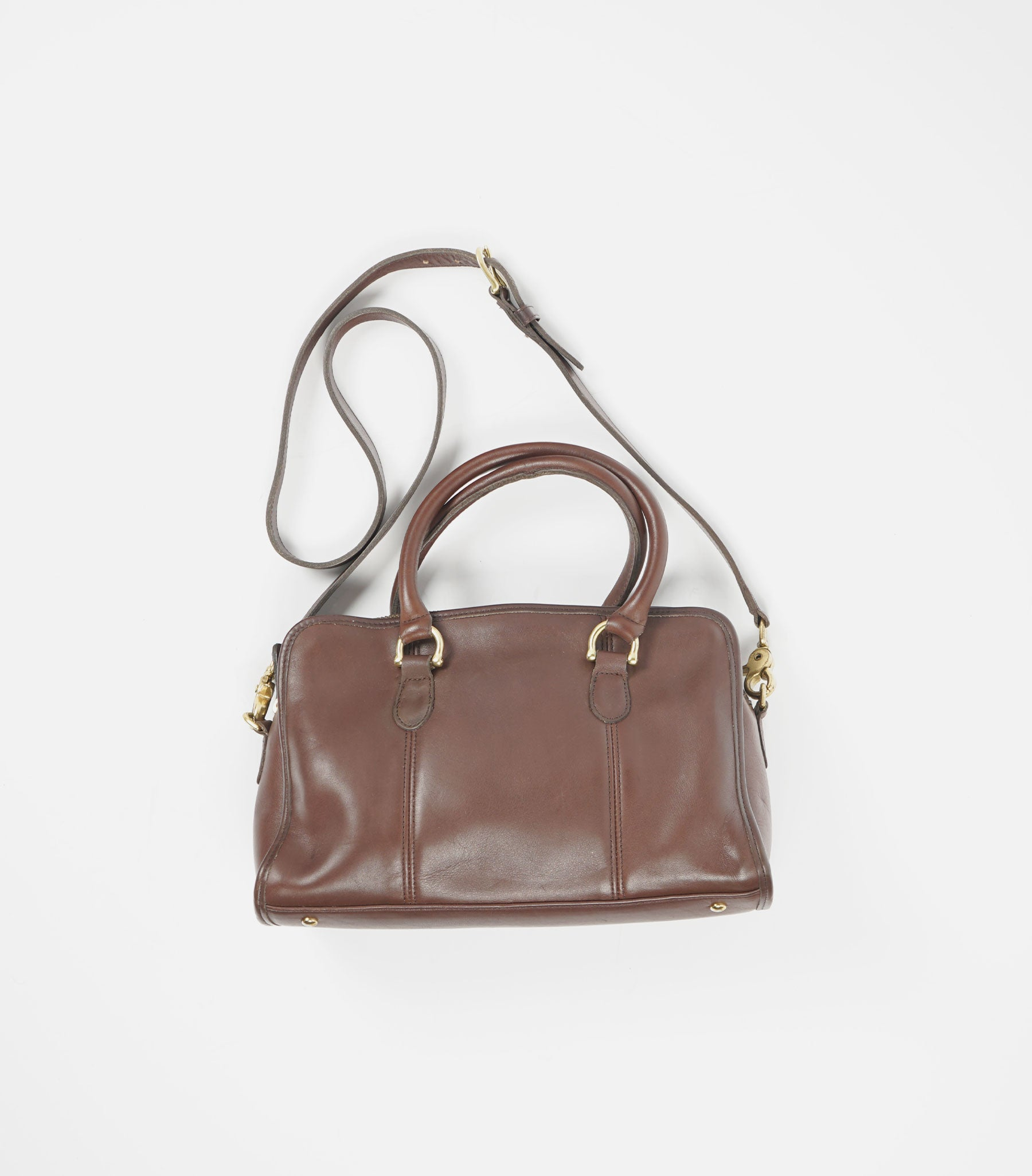 Brown Leather Hand Bag W/Strap