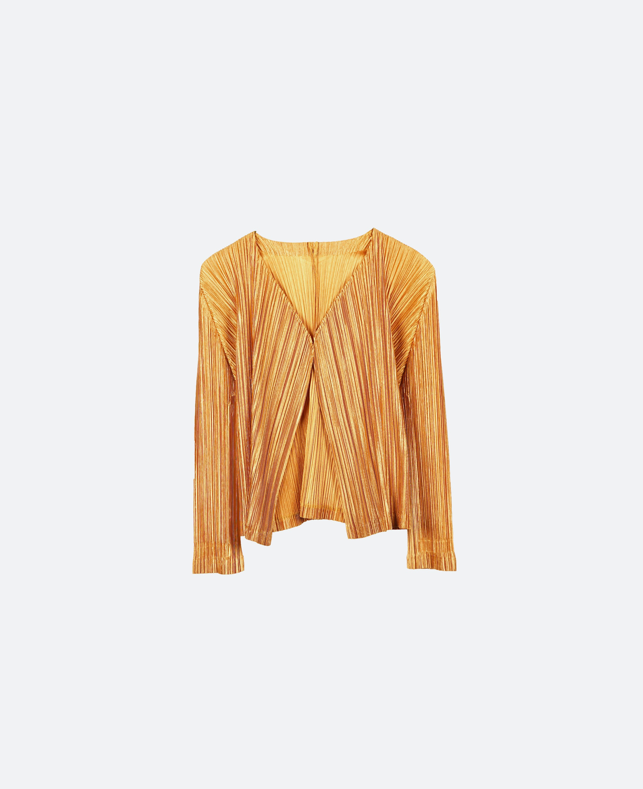 Issey Pleats Please Pleated Cardigan