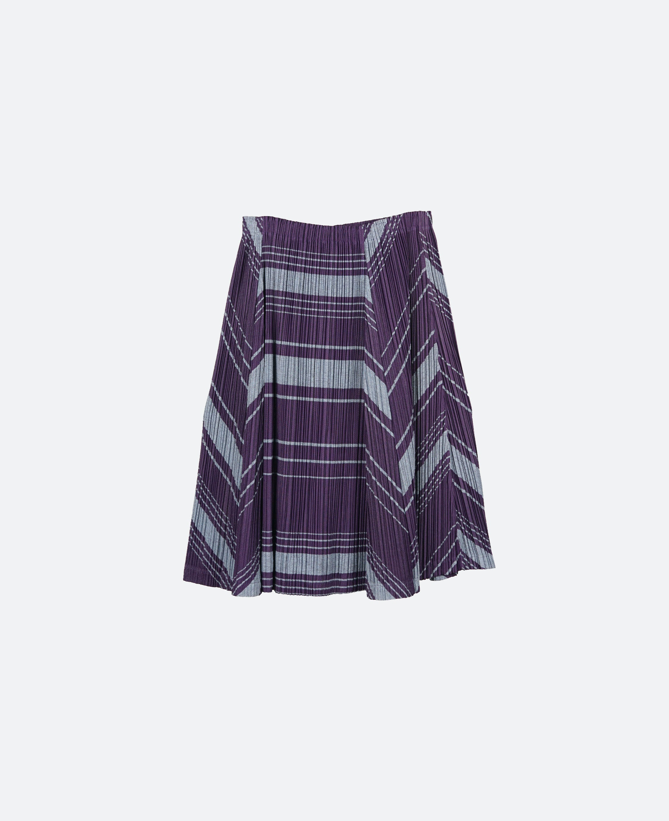 Issey Pleats Please Patterned Pleats Skirt