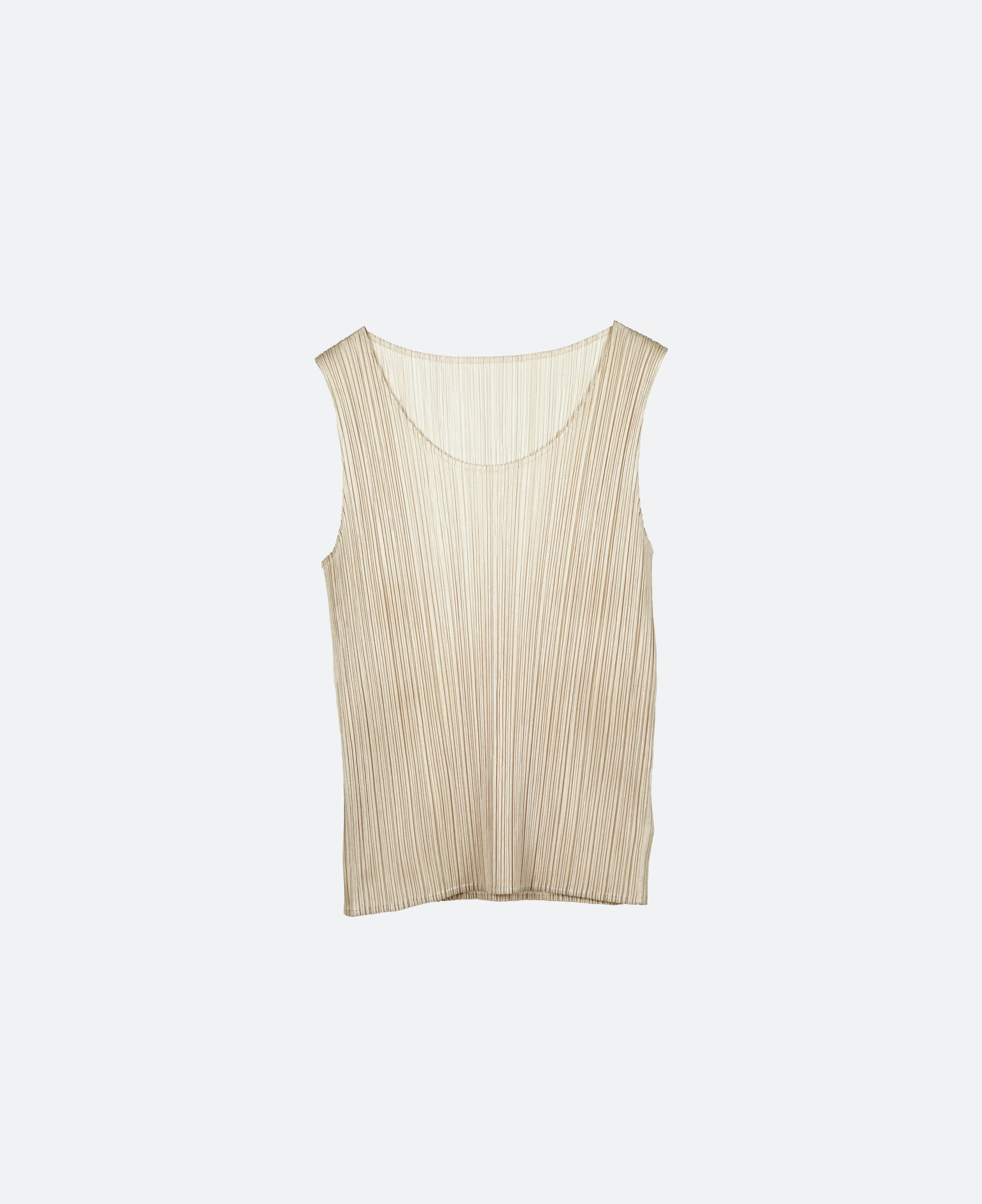 Issey Pleats Please No Sleeve Top
